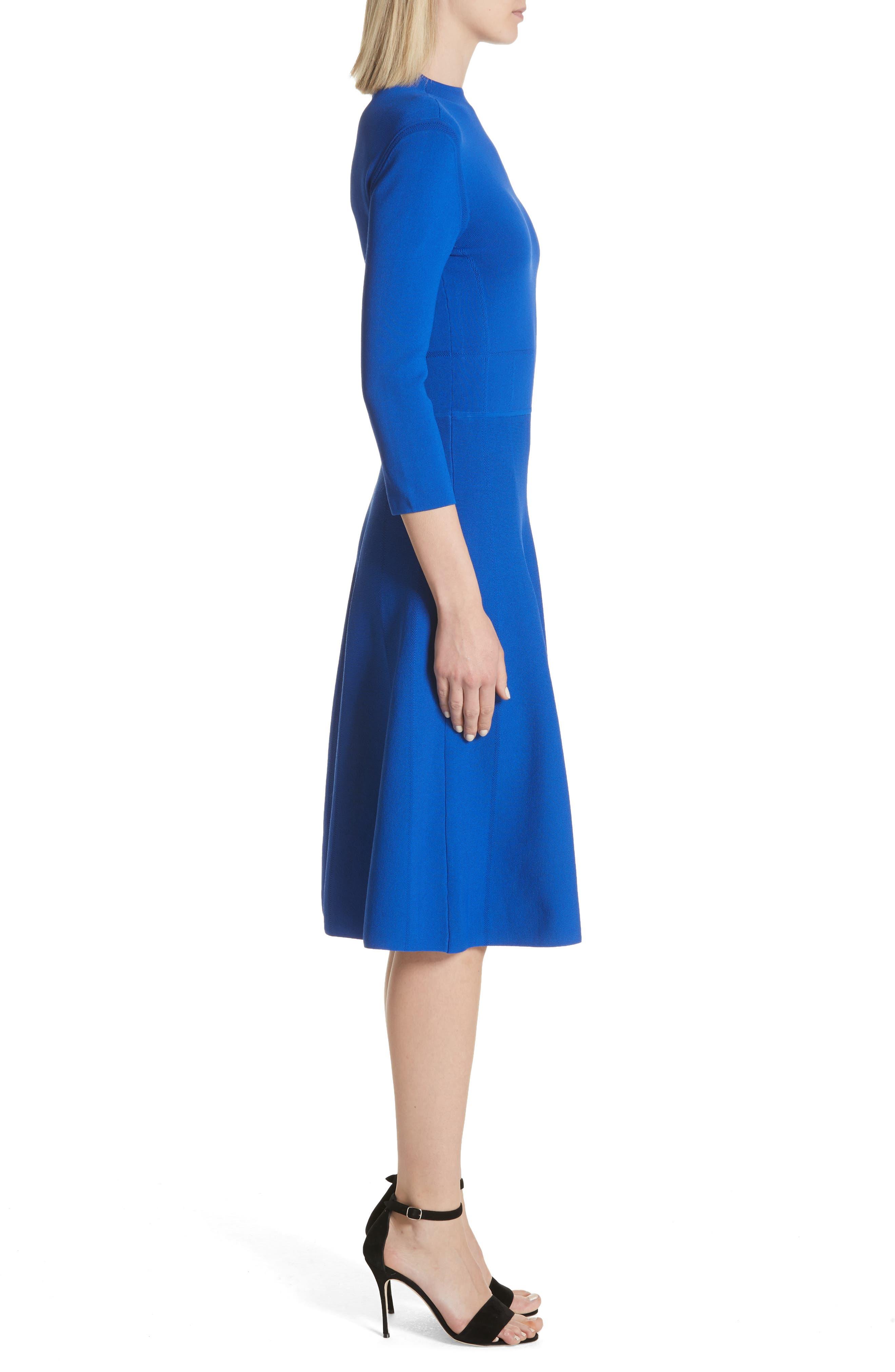 Alternate Image 3  - Emporio Armani High Neck Fit & Flare Dress