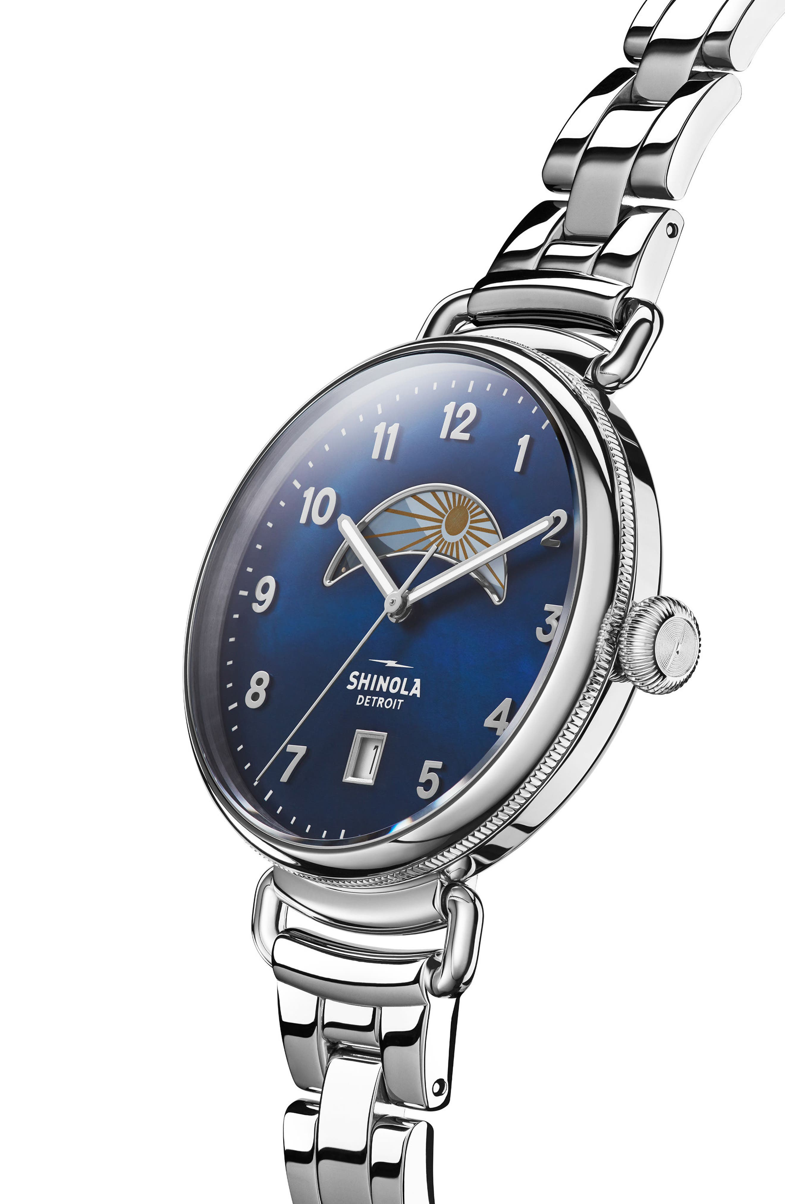 The Canfield Bracelet Watch, 38mm,                             Alternate thumbnail 4, color,                             Silver/ Midnight Blue/ Silver