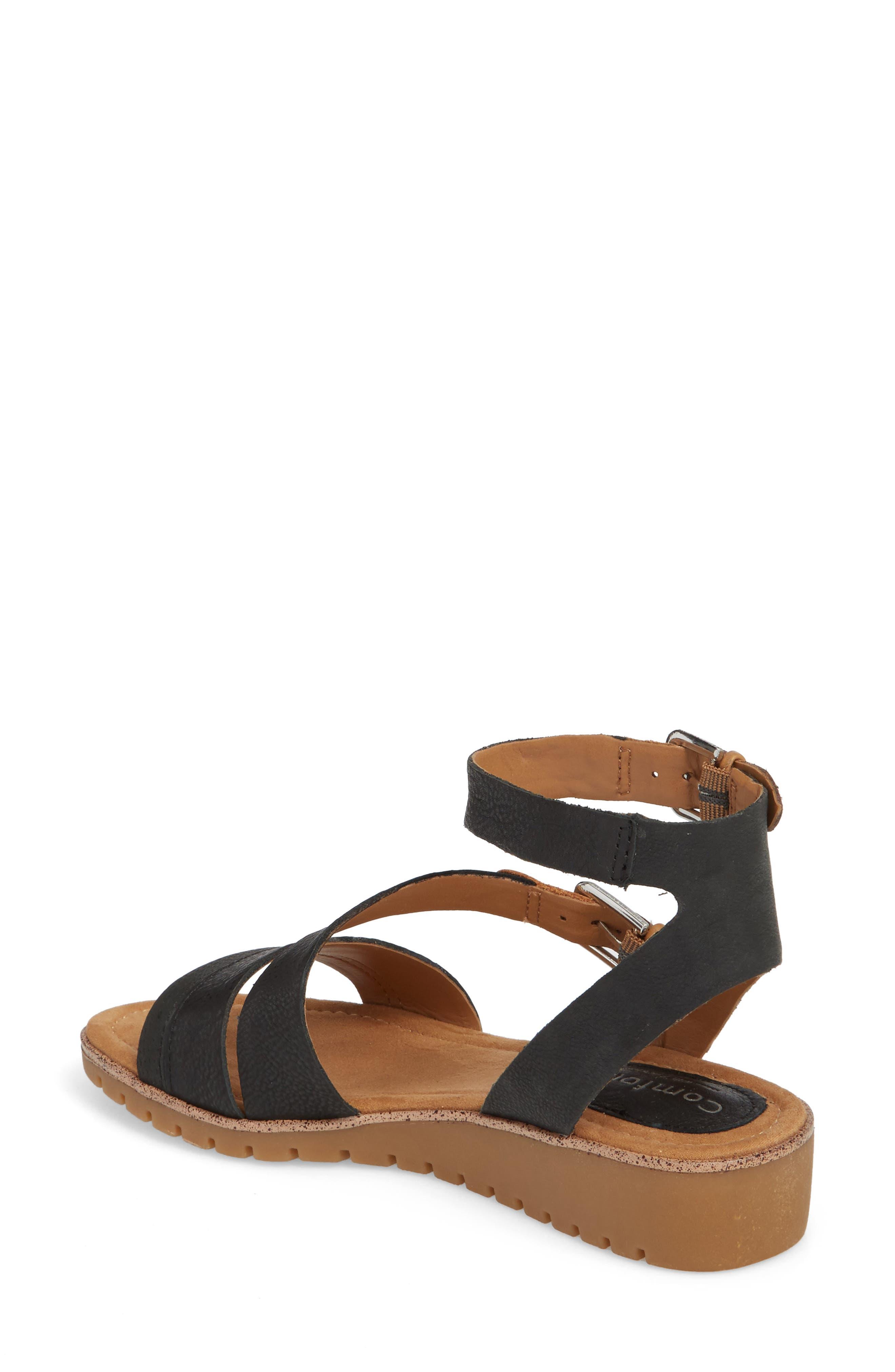 Corvina Sandal,                             Alternate thumbnail 2, color,                             Black/ Sand Leather
