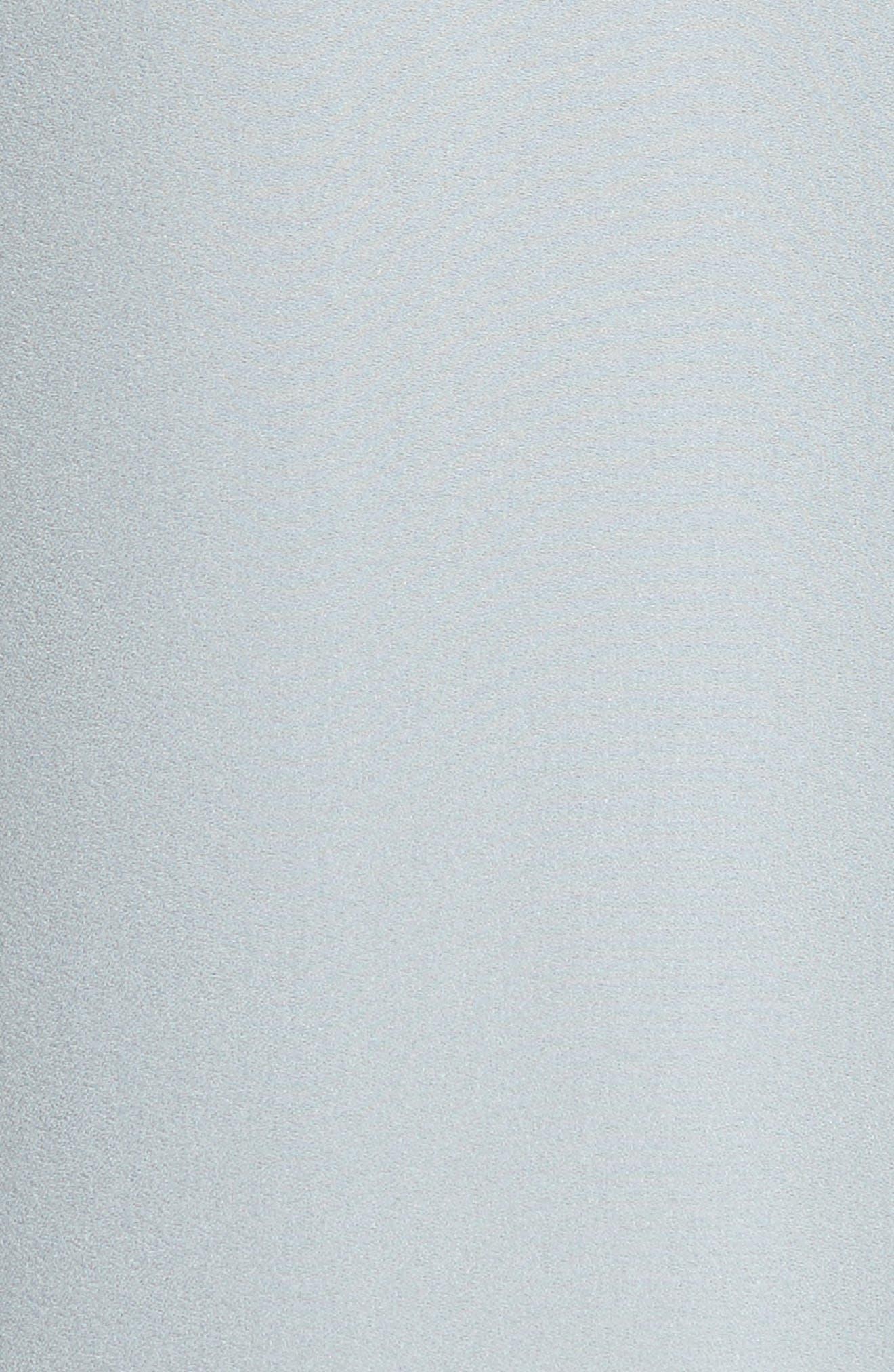 Slit Front Silk Georgette Blouse,                             Alternate thumbnail 5, color,                             Deep Morning Blue