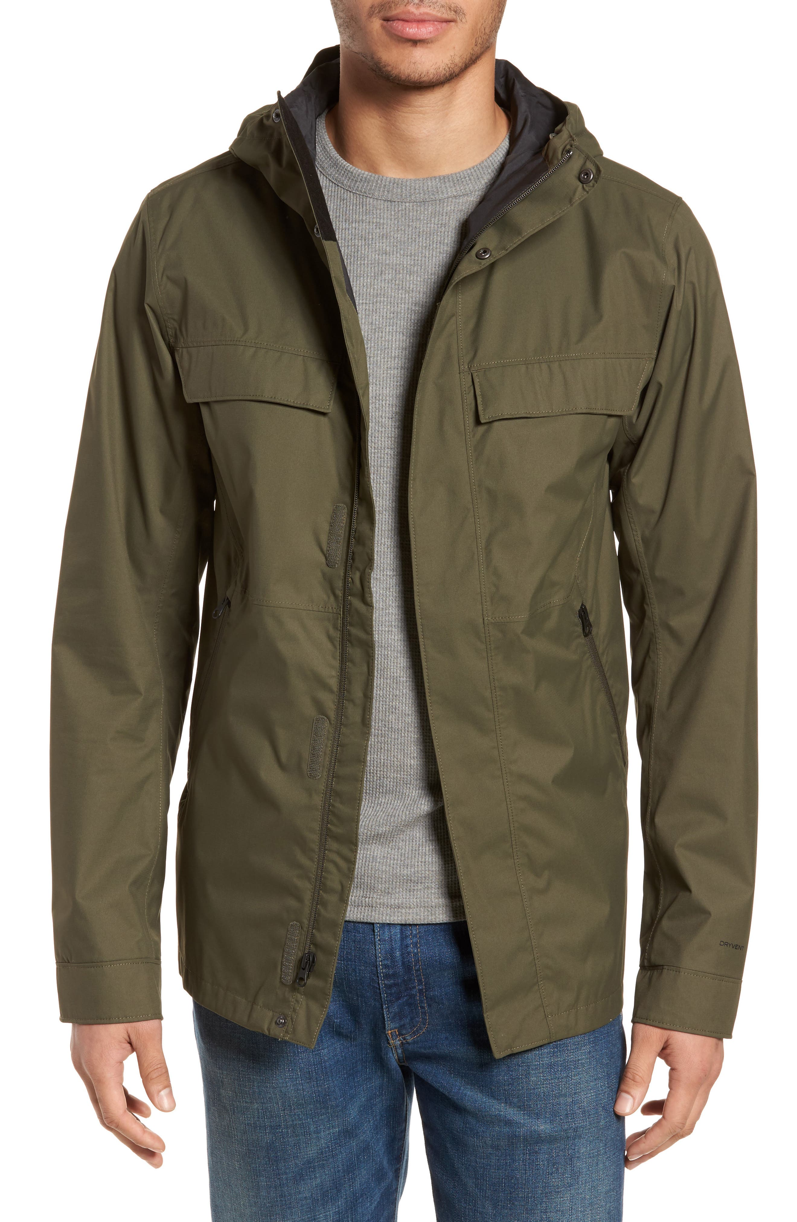 Jenison II Insulated Waterproof Jacket,                             Main thumbnail 1, color,                             New Taupe Green
