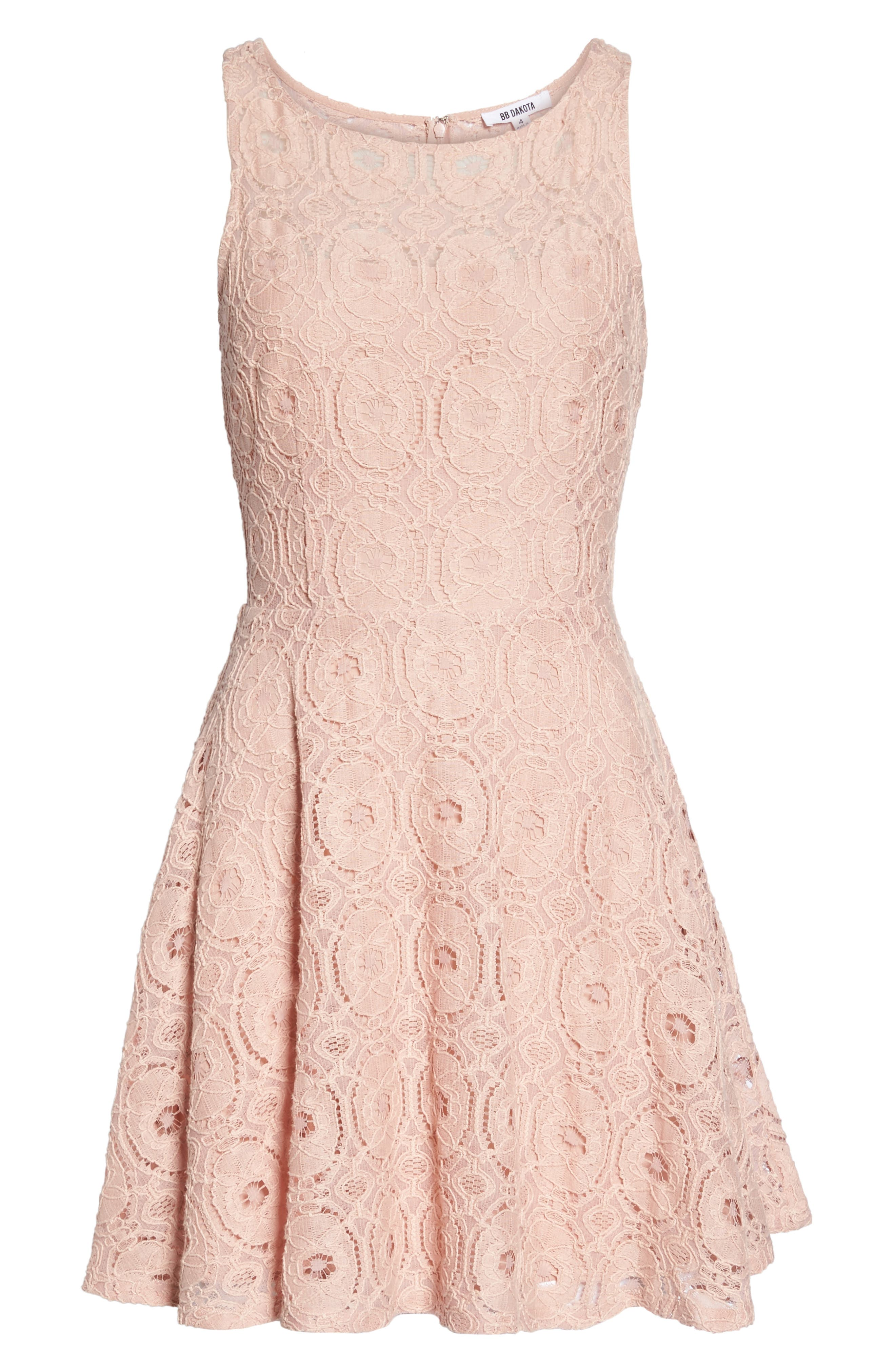 Alternate Image 6  - BB Dakota 'Renley' Lace Fit & Flare Dress (Nordstrom Exclusive)