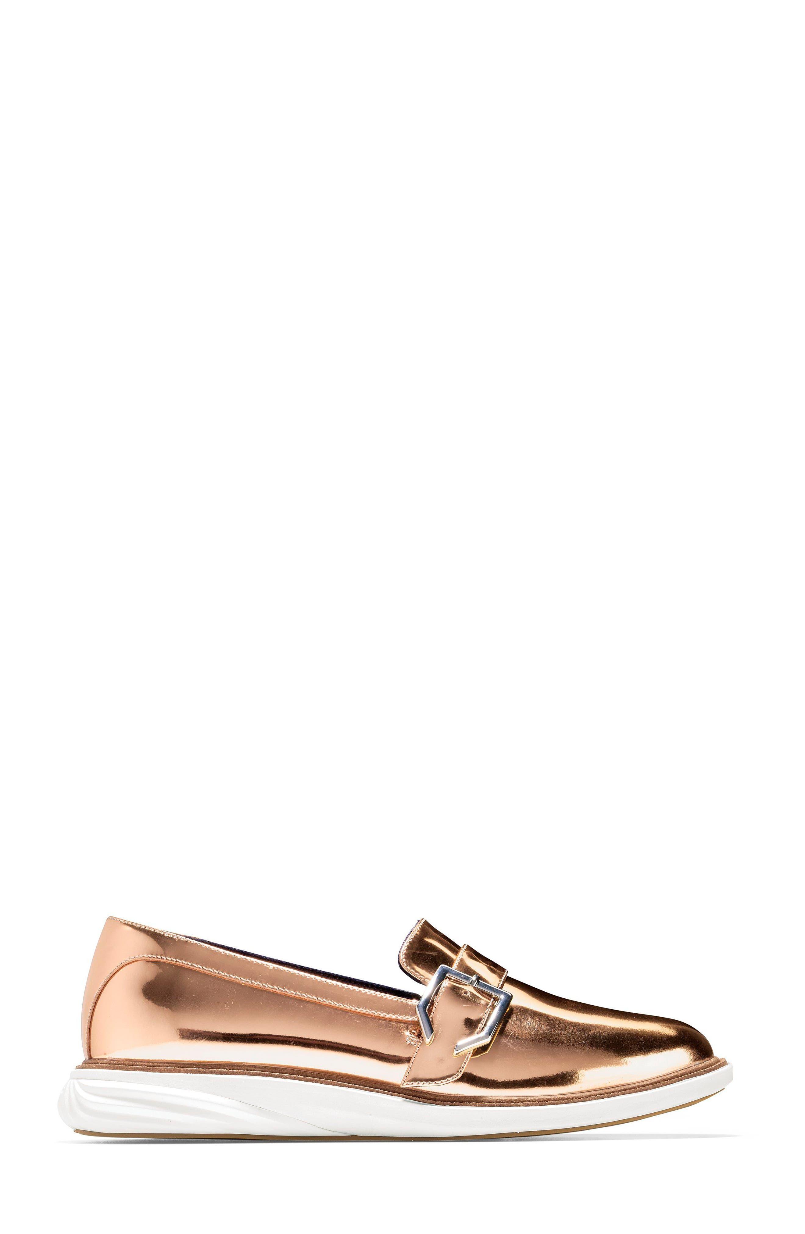 GrandEvolution Sneaker,                             Alternate thumbnail 3, color,                             Rose Gold Leather