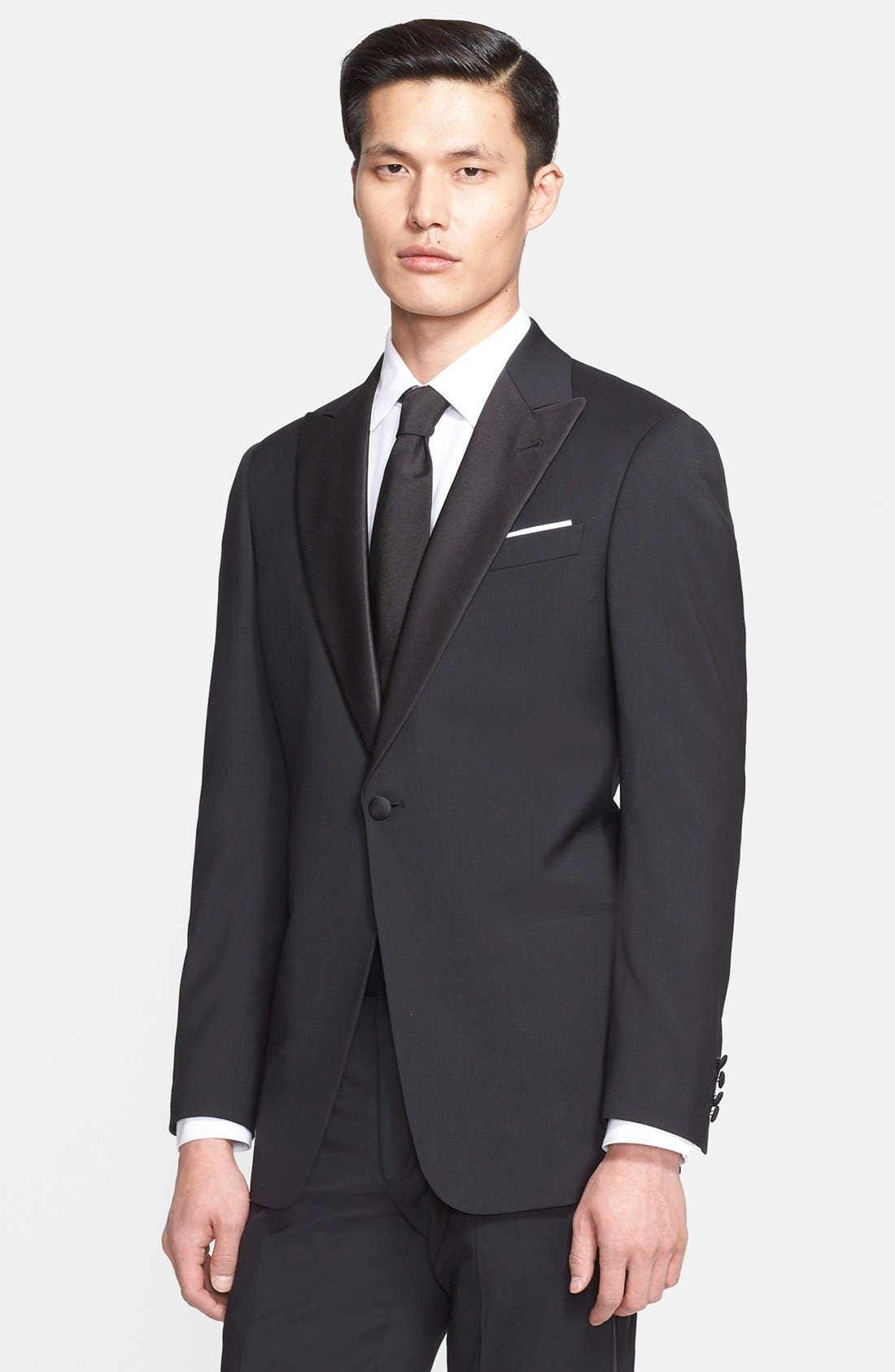 Alternate Image 3  - Armani Collezioni 'Giorgio' Trim Fit Peak Lapel Wool Tuxedo (Free Next Day Shipping)