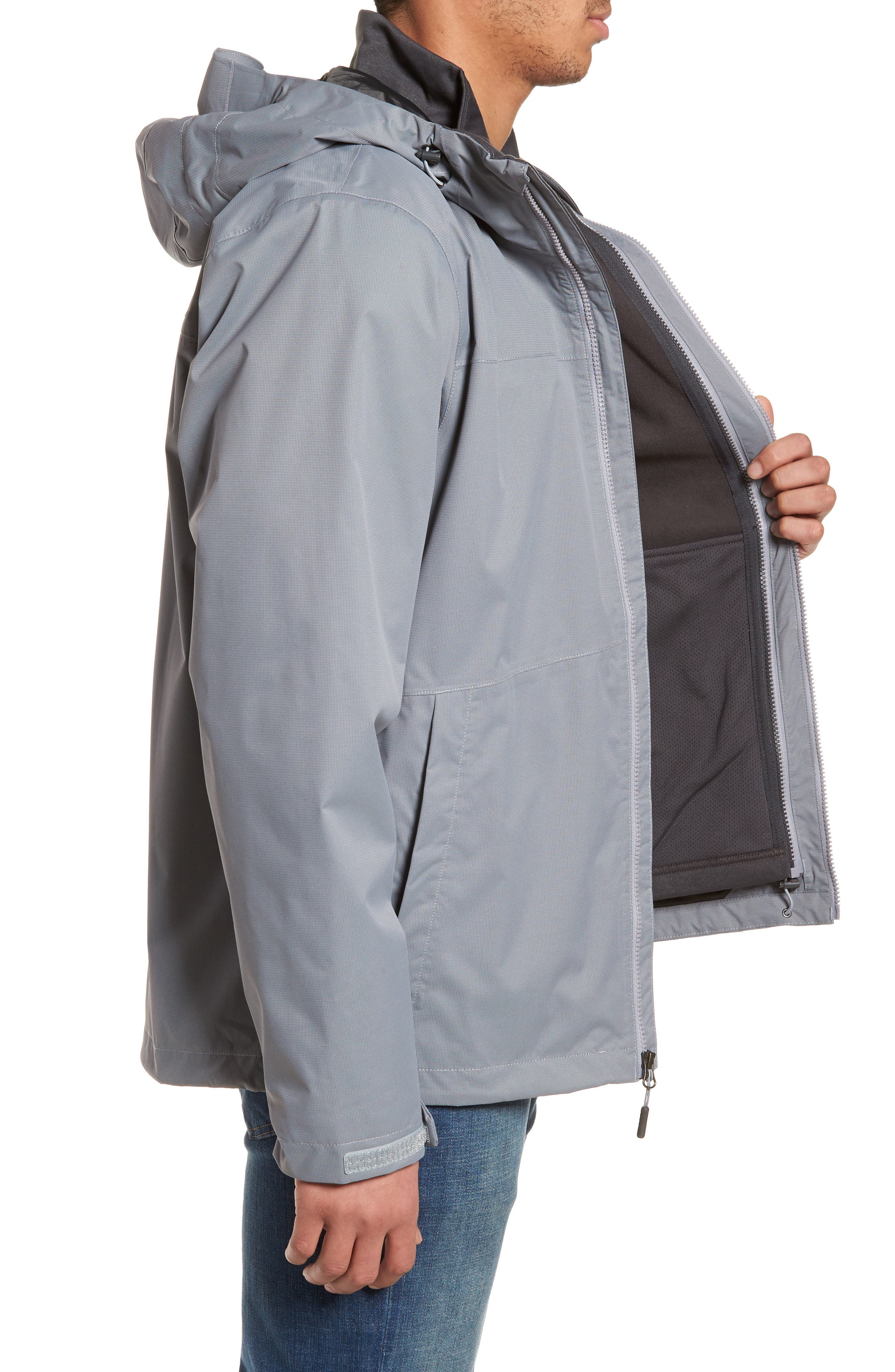 'Arrowood' TriClimate<sup>®</sup> 3-in-1 Jacket,                             Alternate thumbnail 3, color,                             Mid Grey