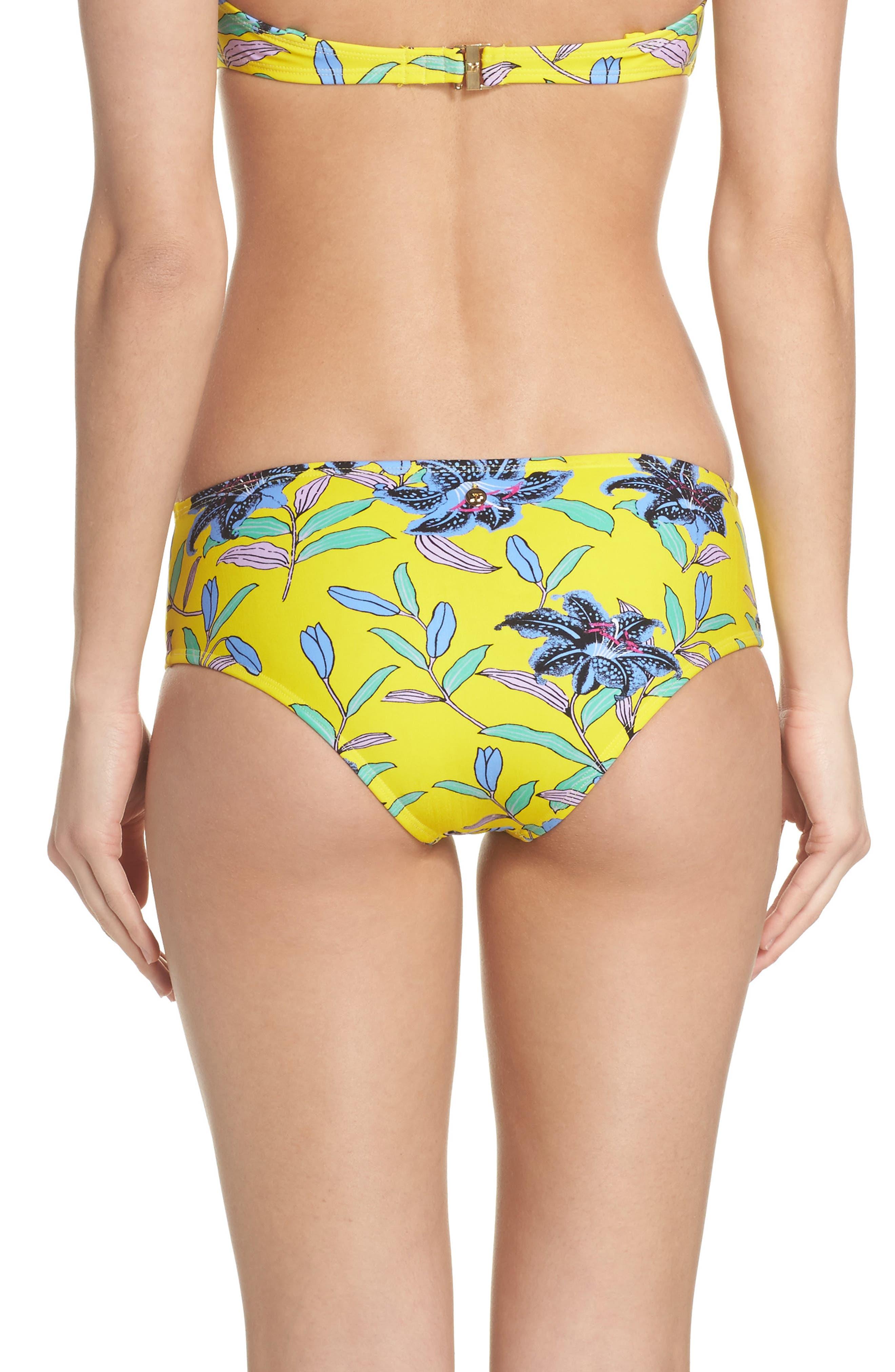 Mid Rise Cheeky Bikini Bottoms,                             Alternate thumbnail 2, color,                             Argos Small Allover Pineapple