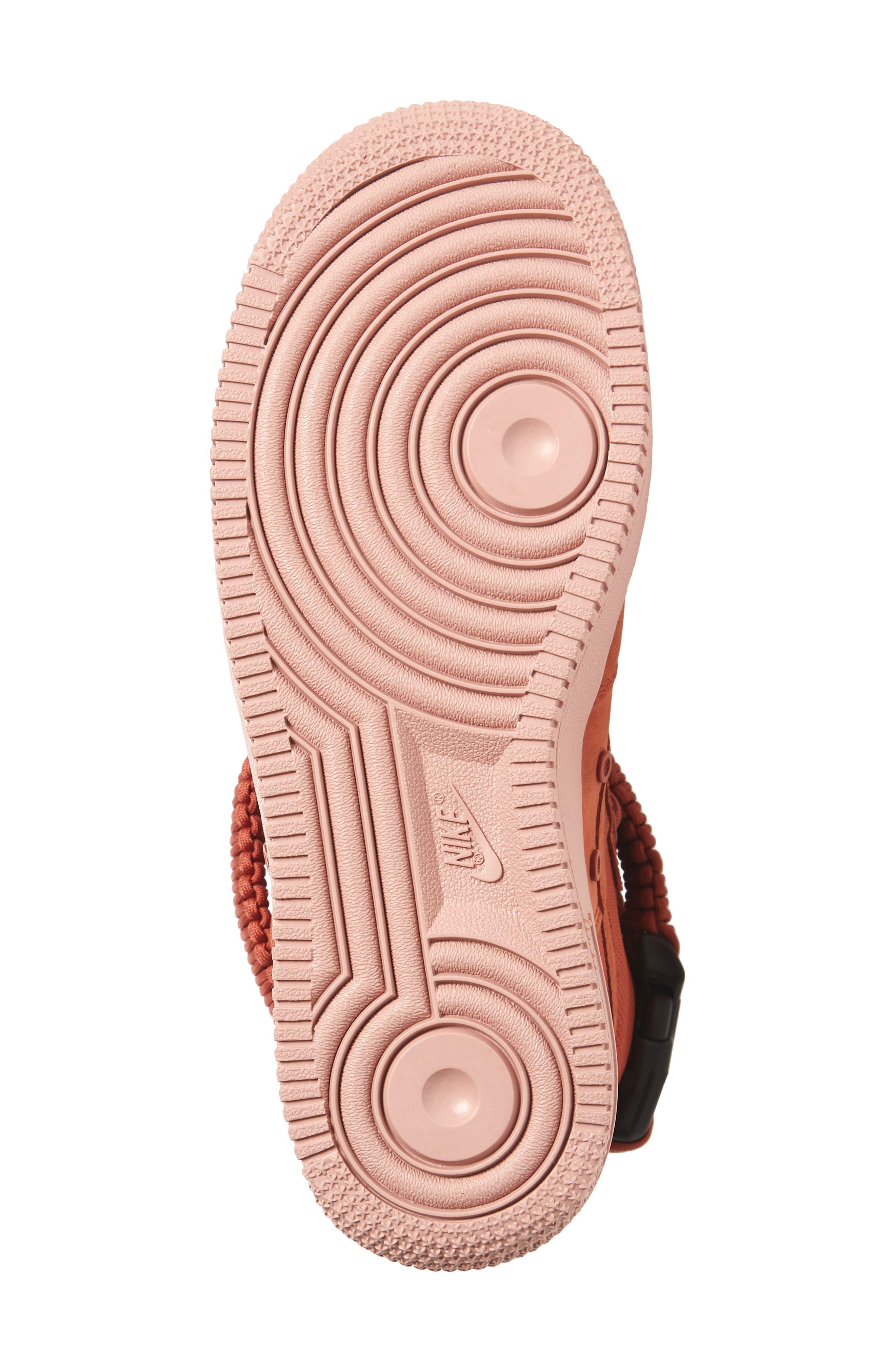 SF Air Force 1 High Top Sneaker,                             Alternate thumbnail 6, color,                             Dusty Peach/ Dusty Peach