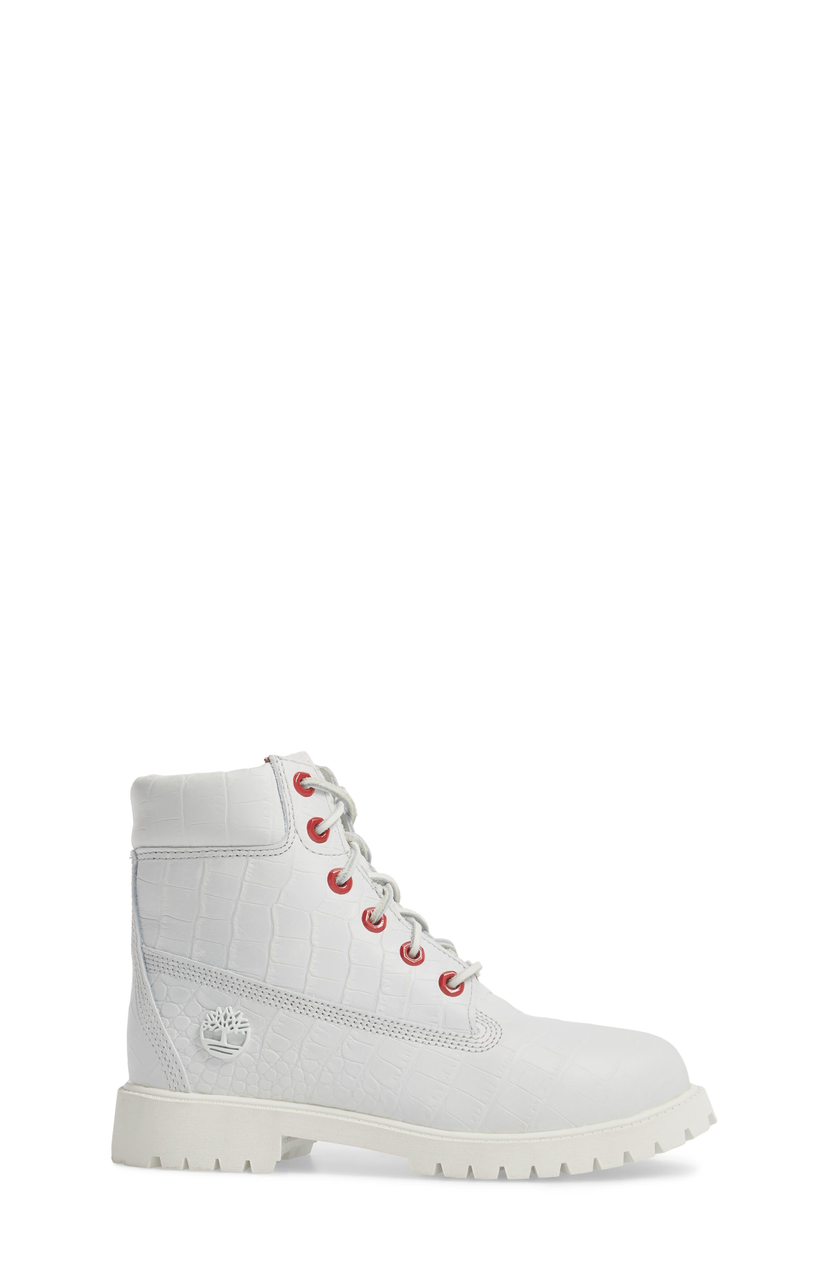 6-Inch Premium Waterproof Boot,                             Alternate thumbnail 3, color,                             White Cardinal Exotic