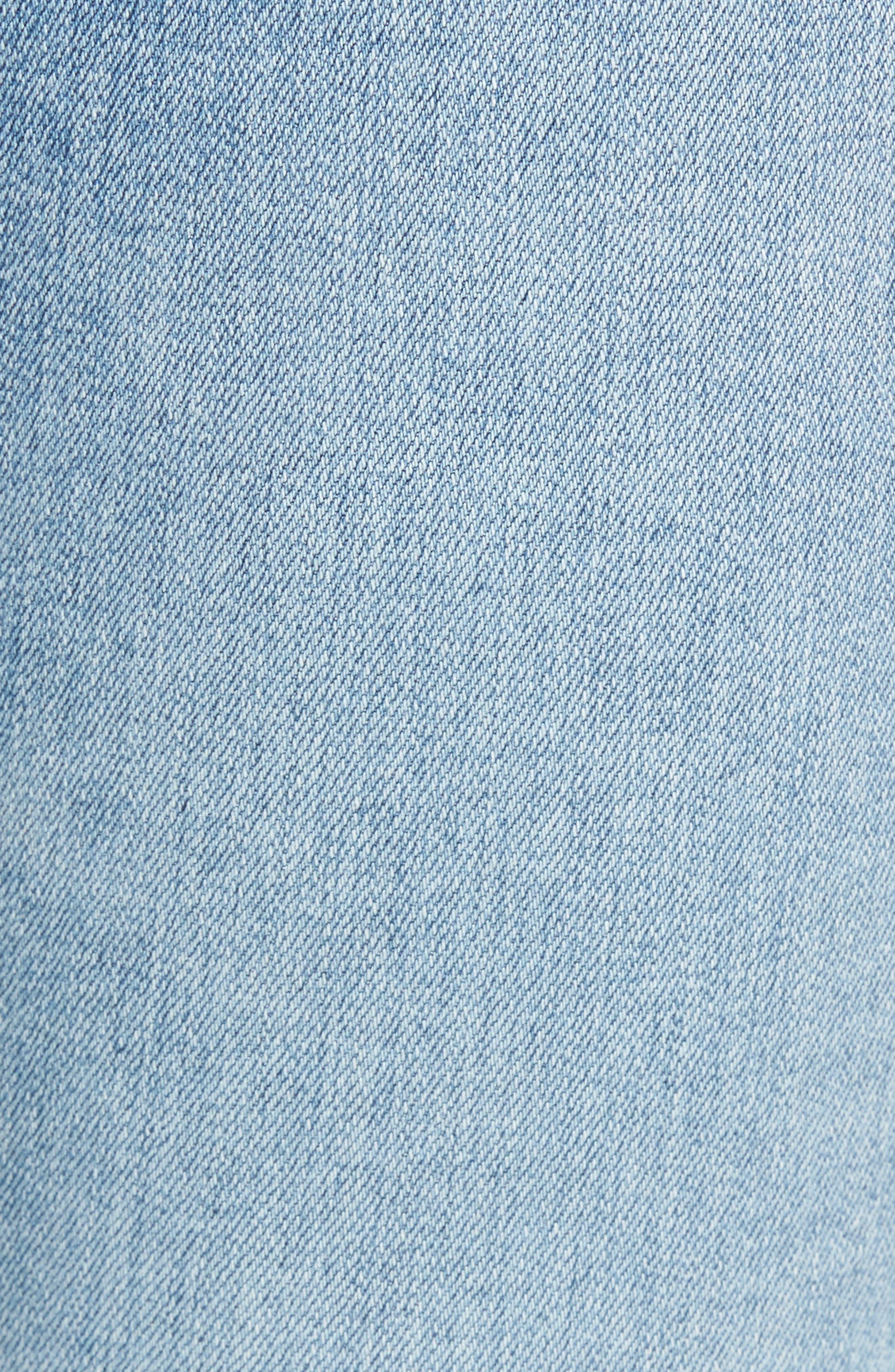 Mila High Waist Ankle Skinny Jeans,                             Alternate thumbnail 6, color,                             20 Years-Oceana Destructed