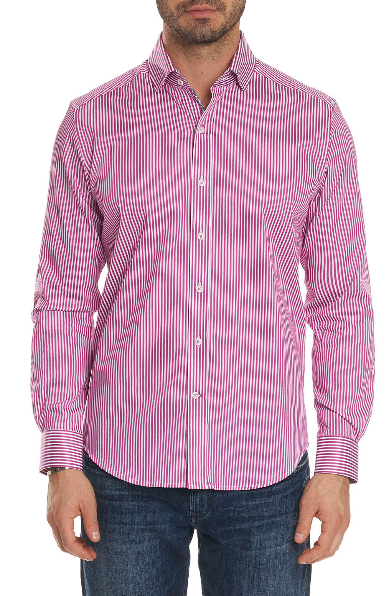 Robert Graham Luther Classic Fit Stripe Sport Shirt