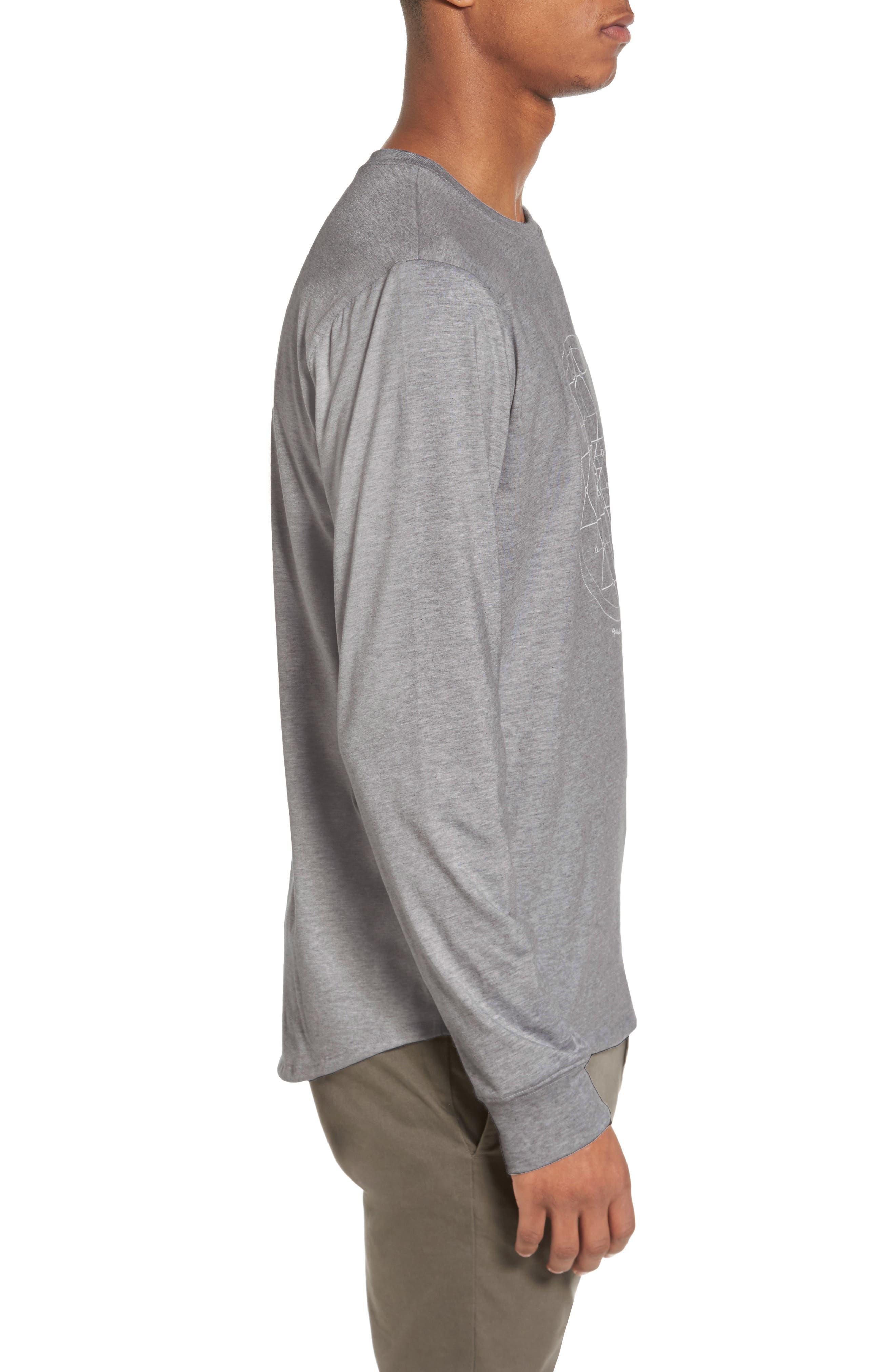 Yantra Long Sleeve T-Shirt,                             Alternate thumbnail 7, color,                             Heather Grey/ Heather Grey
