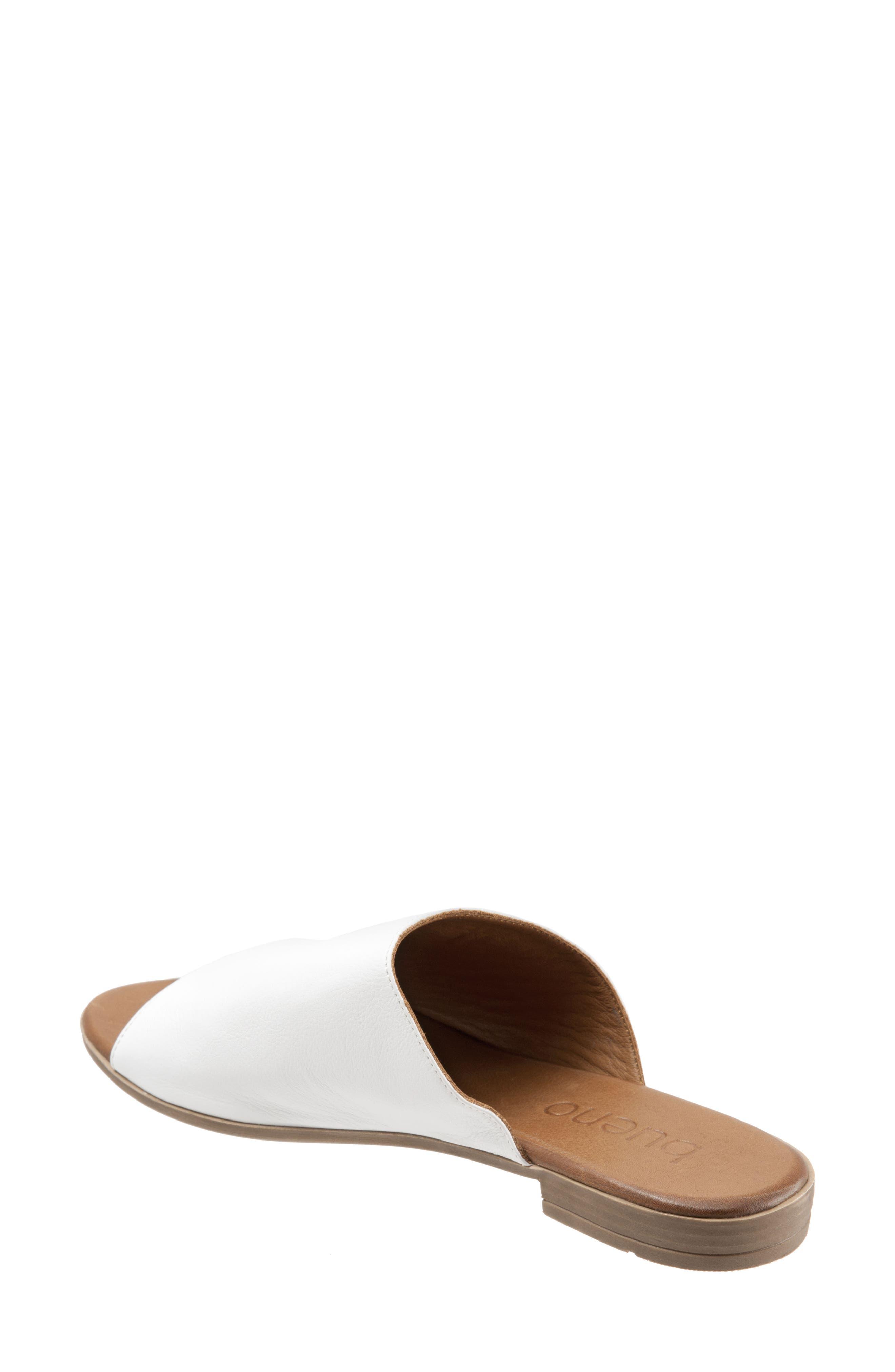 Jory Slide Sandal,                             Alternate thumbnail 2, color,                             White Leather