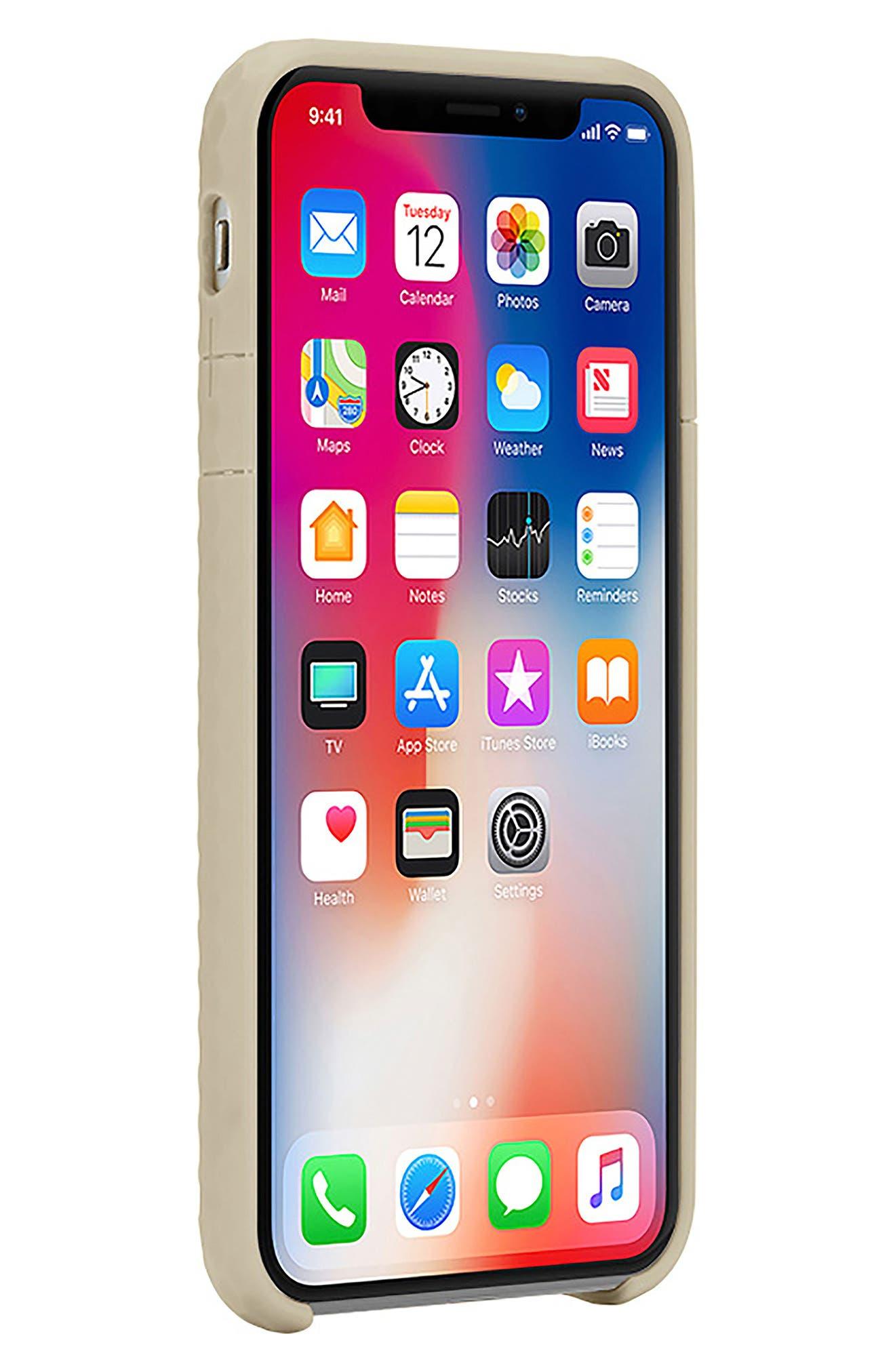 Pop iPhone X Case,                             Alternate thumbnail 7, color,                             Gold