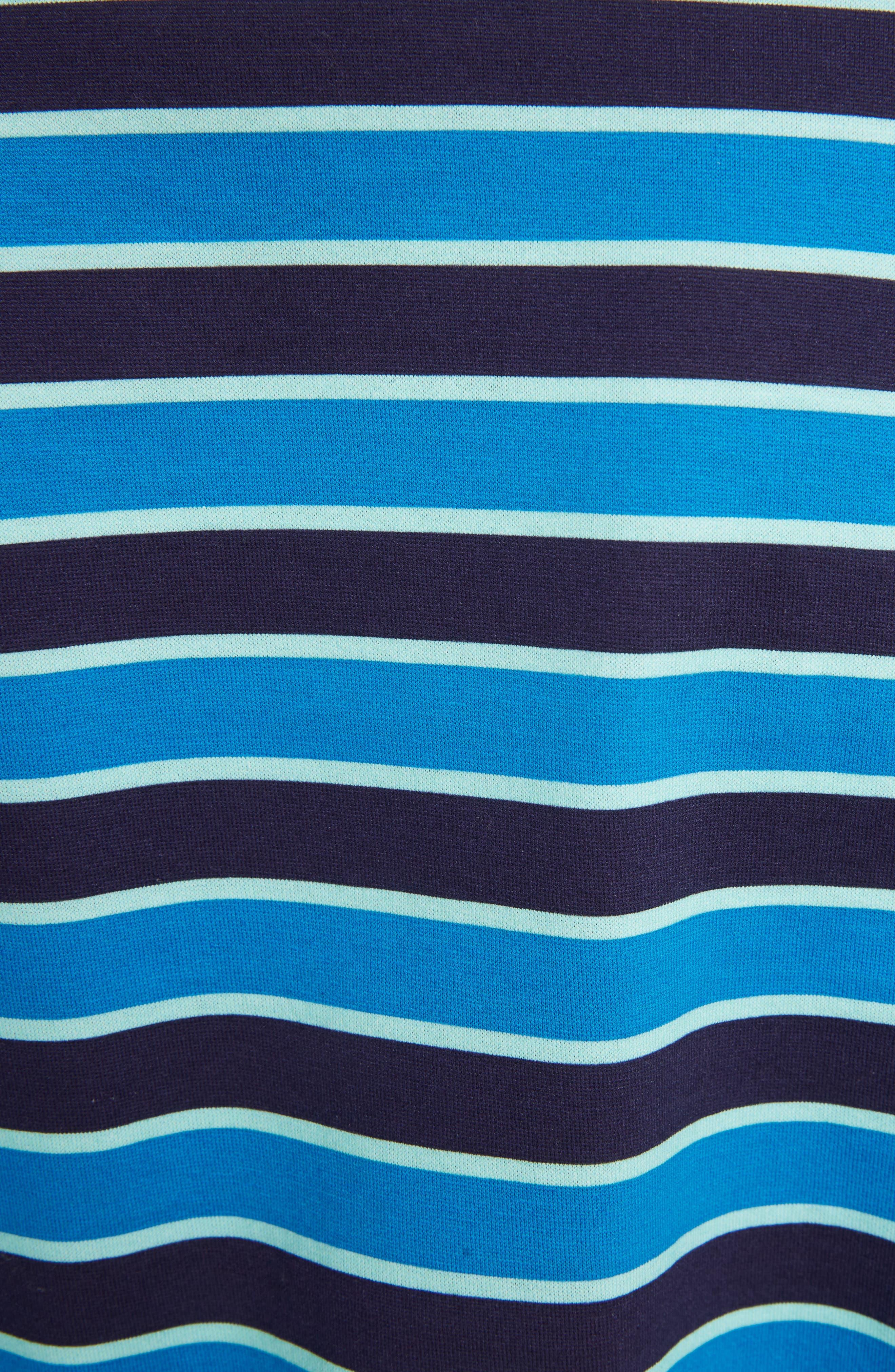 Stripe Logo Tee,                             Alternate thumbnail 5, color,                             Black