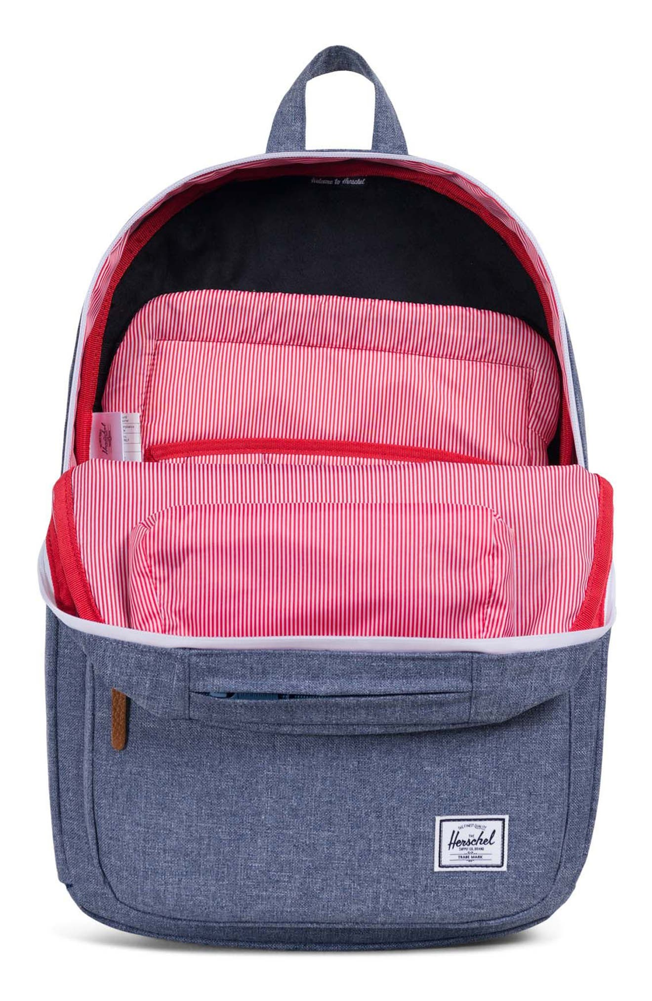 Harrison Backpack,                             Alternate thumbnail 3, color,                             Dark Chambray Crosshatch
