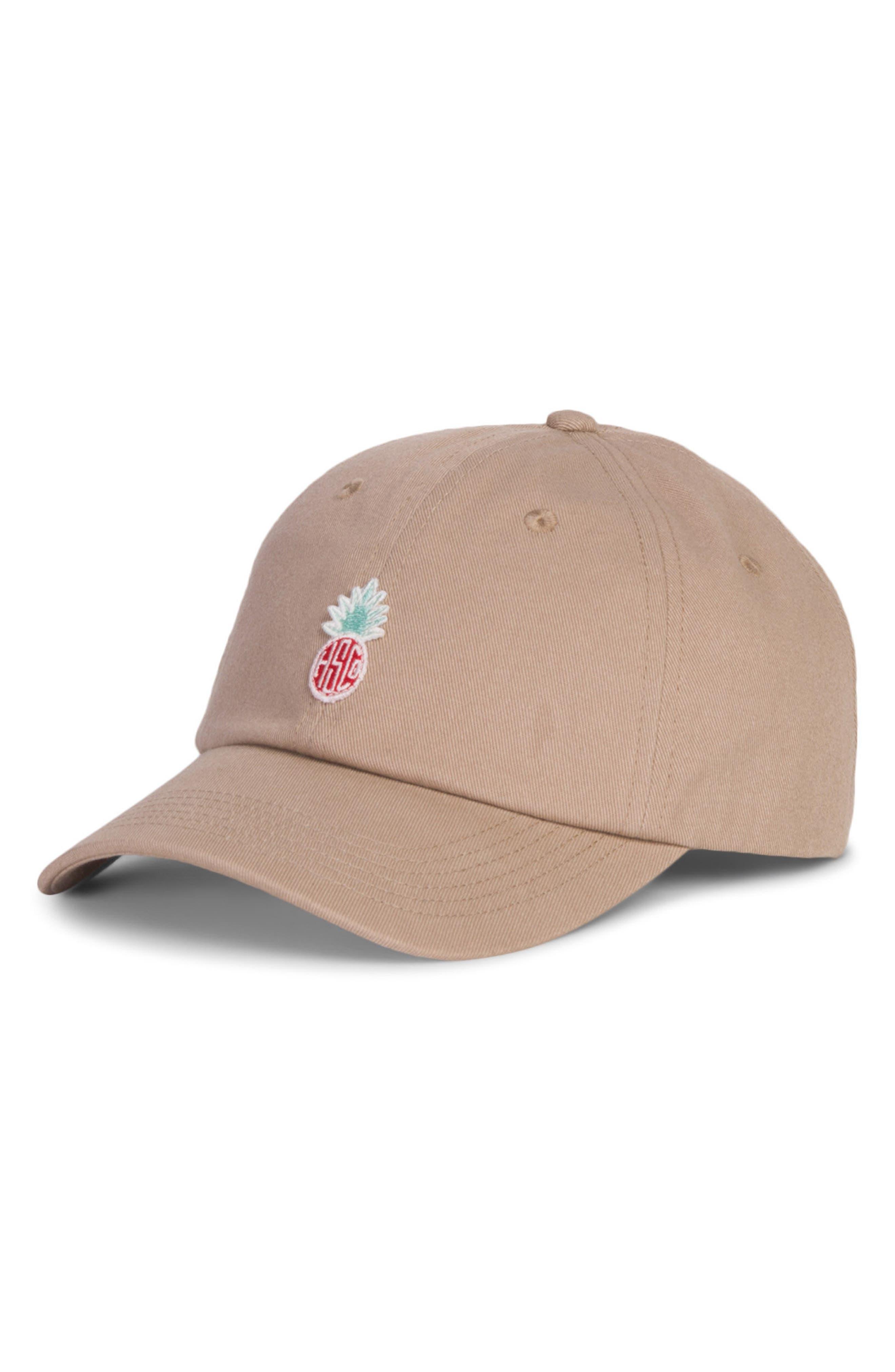 Sylas Hawaiian Ball Cap,                         Main,                         color, Khaki
