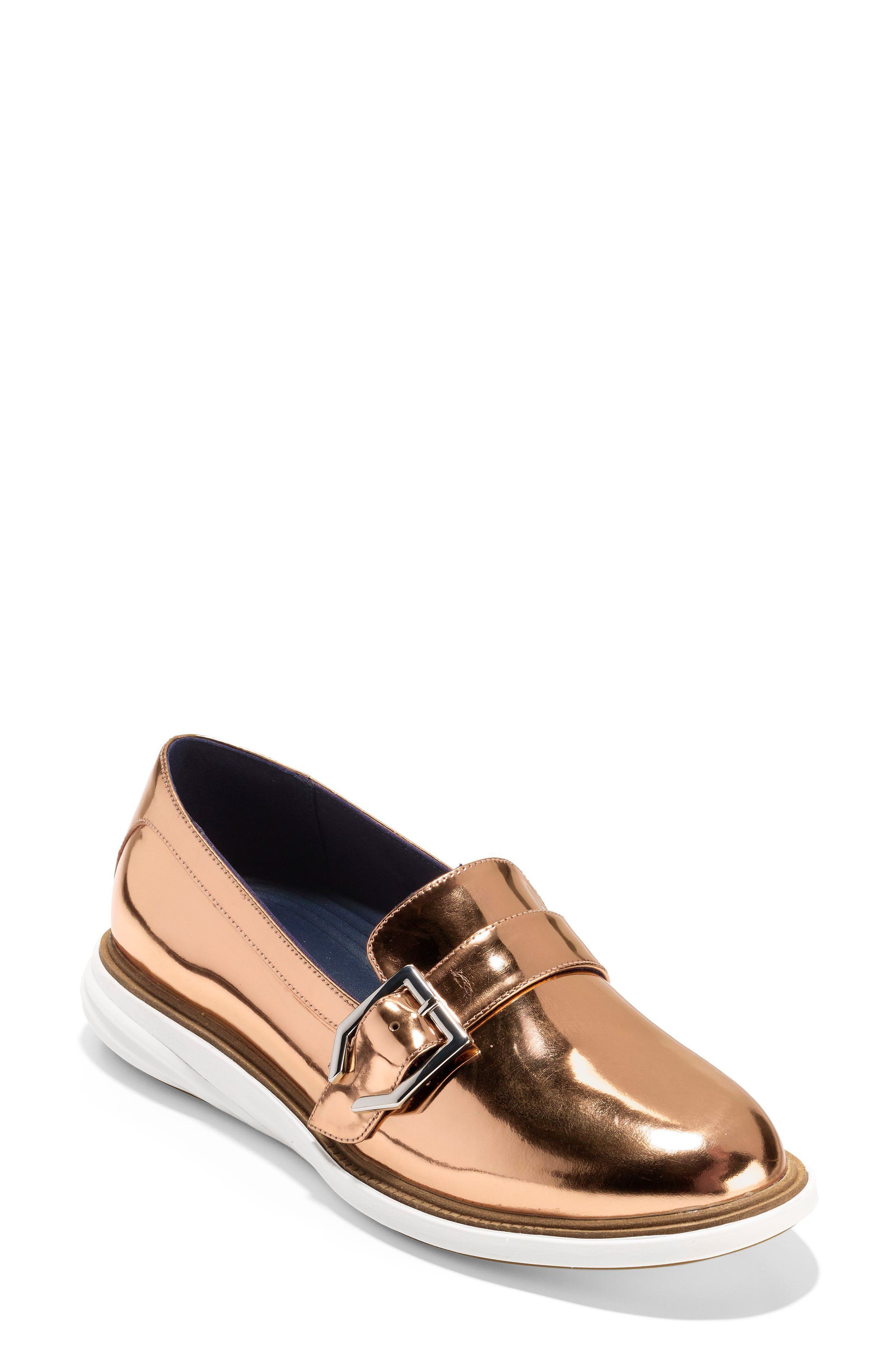 GrandEvolution Sneaker,                             Main thumbnail 1, color,                             Rose Gold Leather