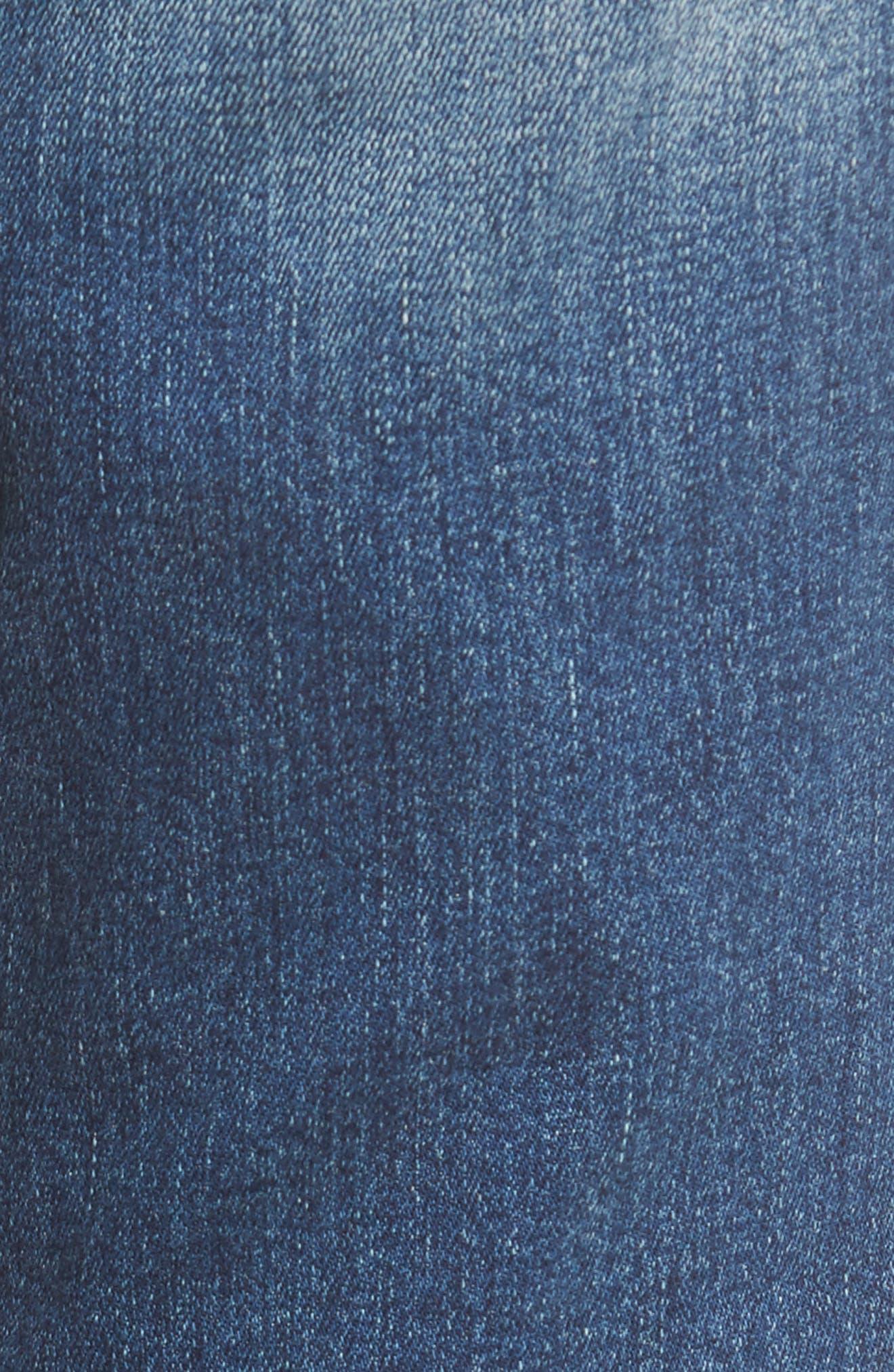 Distressed Fray Hem Skinny Jeans,                             Alternate thumbnail 2, color,                             Destroy