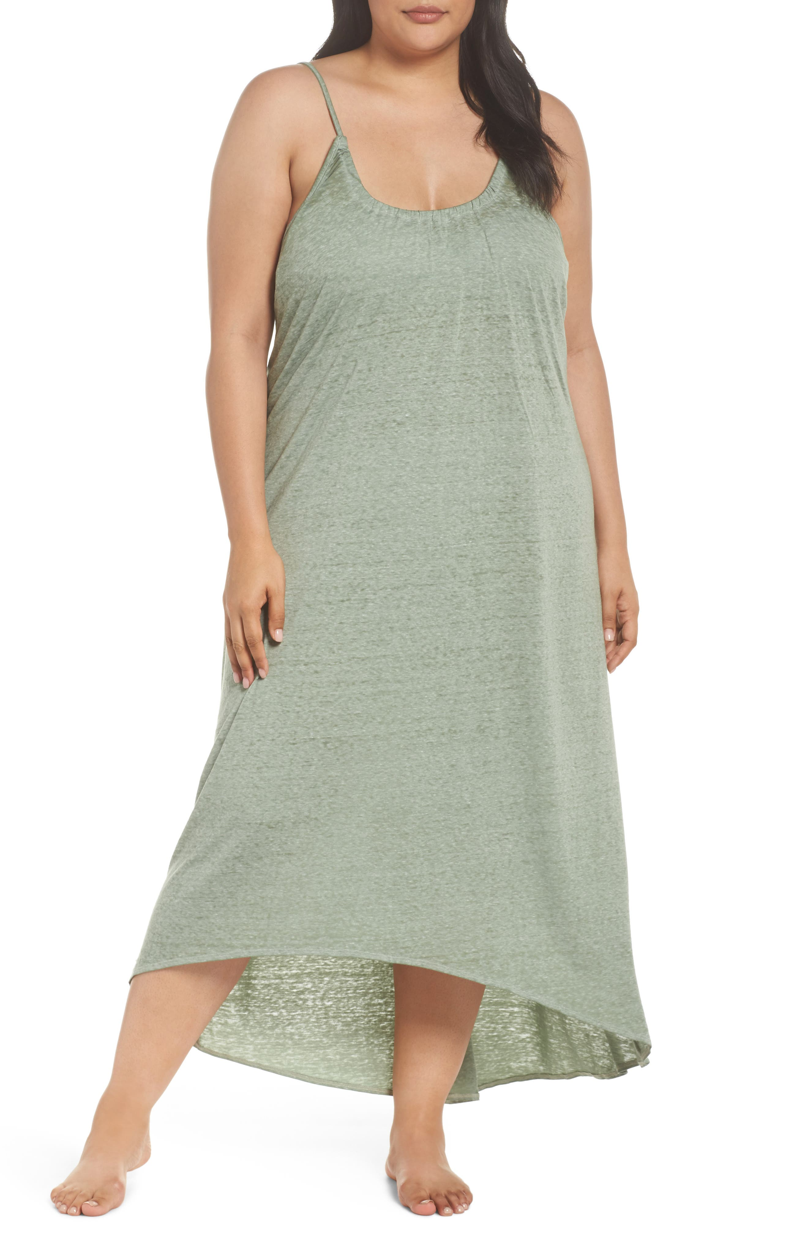 Maxi Cover-Up Dress,                         Main,                         color, Green Dune