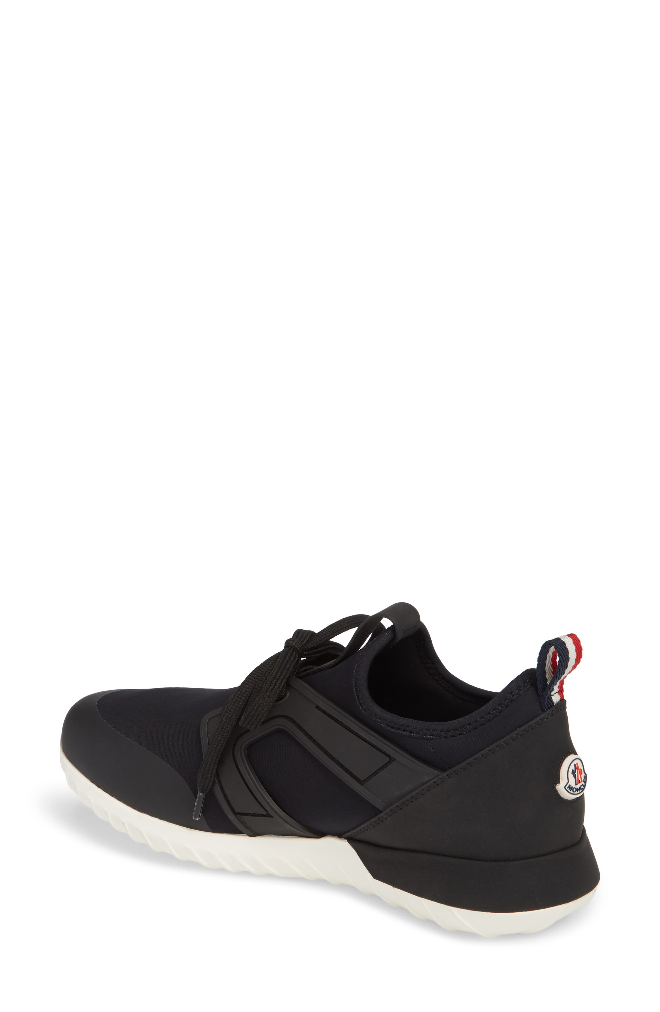 Meline Lace-Up Sneaker,                             Alternate thumbnail 2, color,                             Black