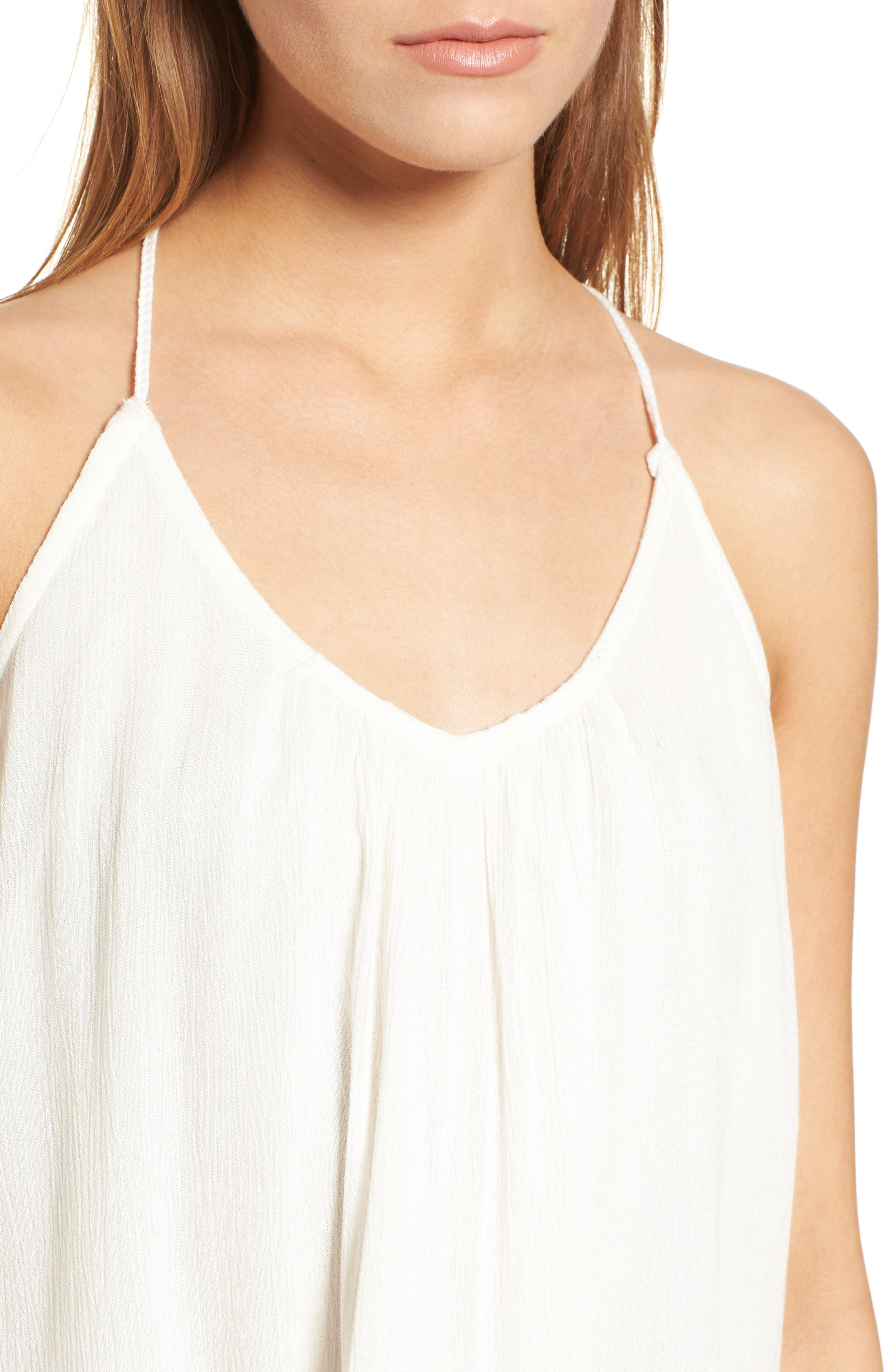 Local in the Sky Tie Back Tank,                             Alternate thumbnail 4, color,                             Marshmallow