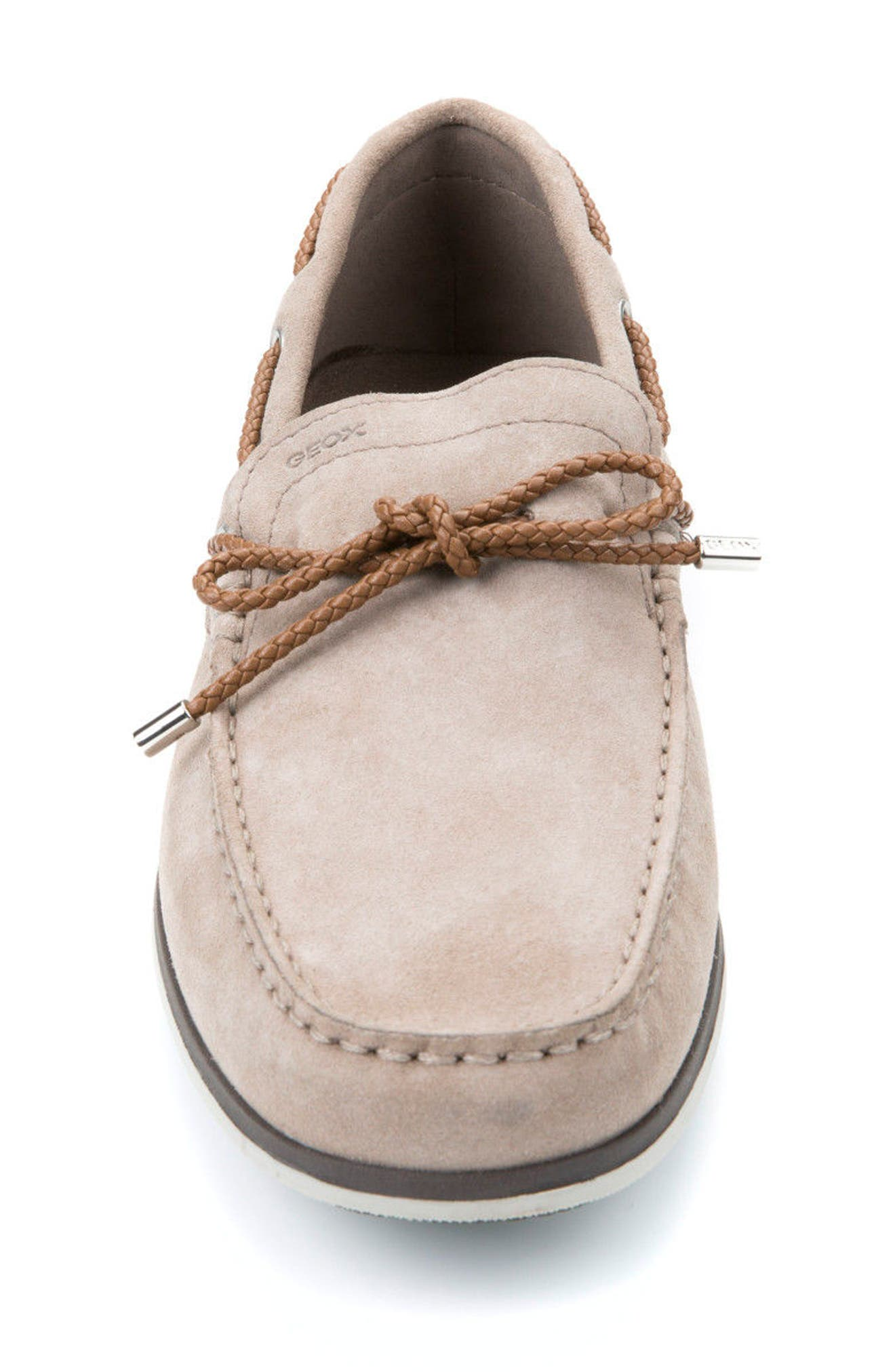 Mirvin 2 Boat Shoe,                             Alternate thumbnail 4, color,                             Taupe Suede