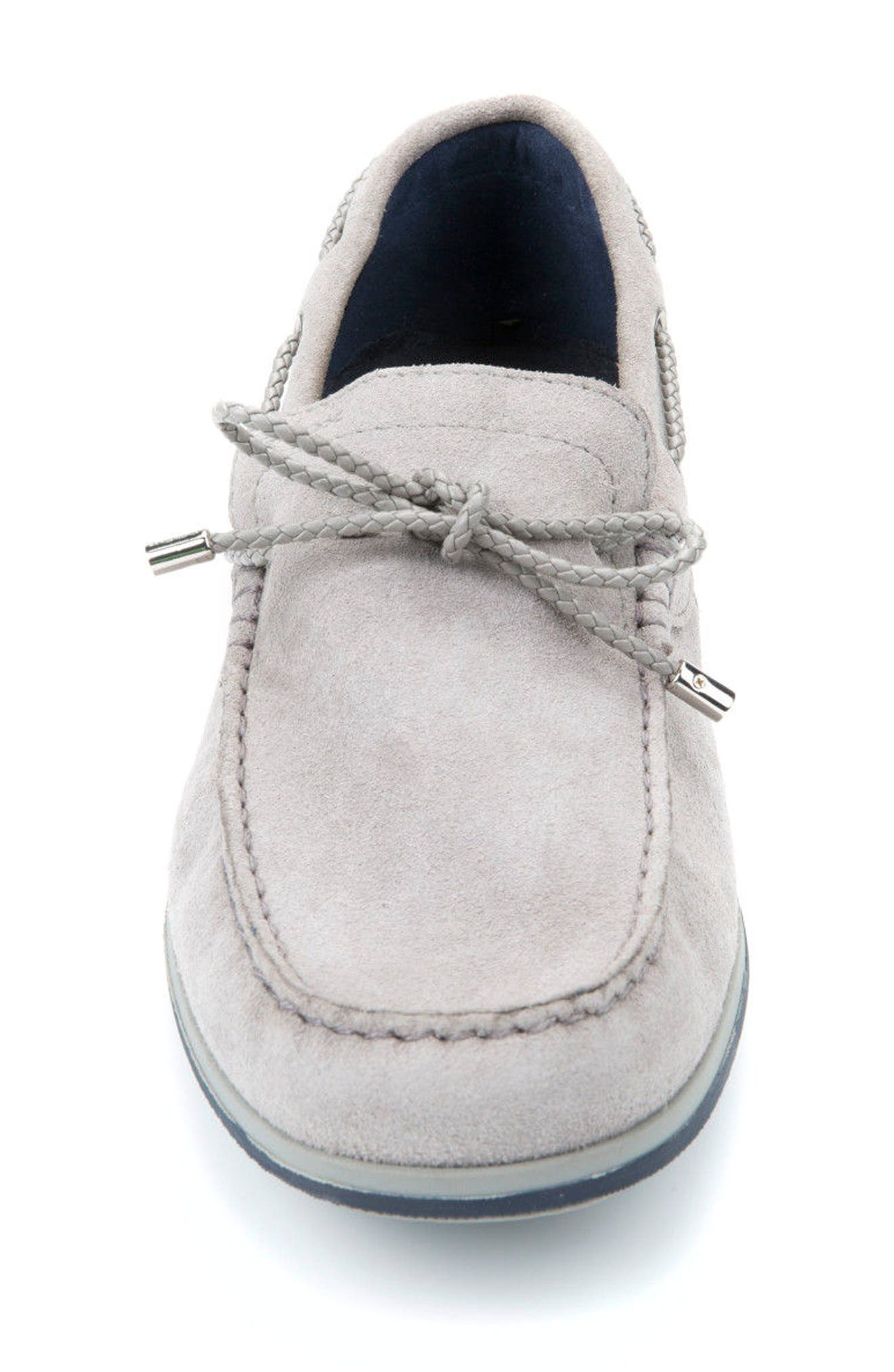 Mirvin 2 Boat Shoe,                             Alternate thumbnail 4, color,                             Stone Suede
