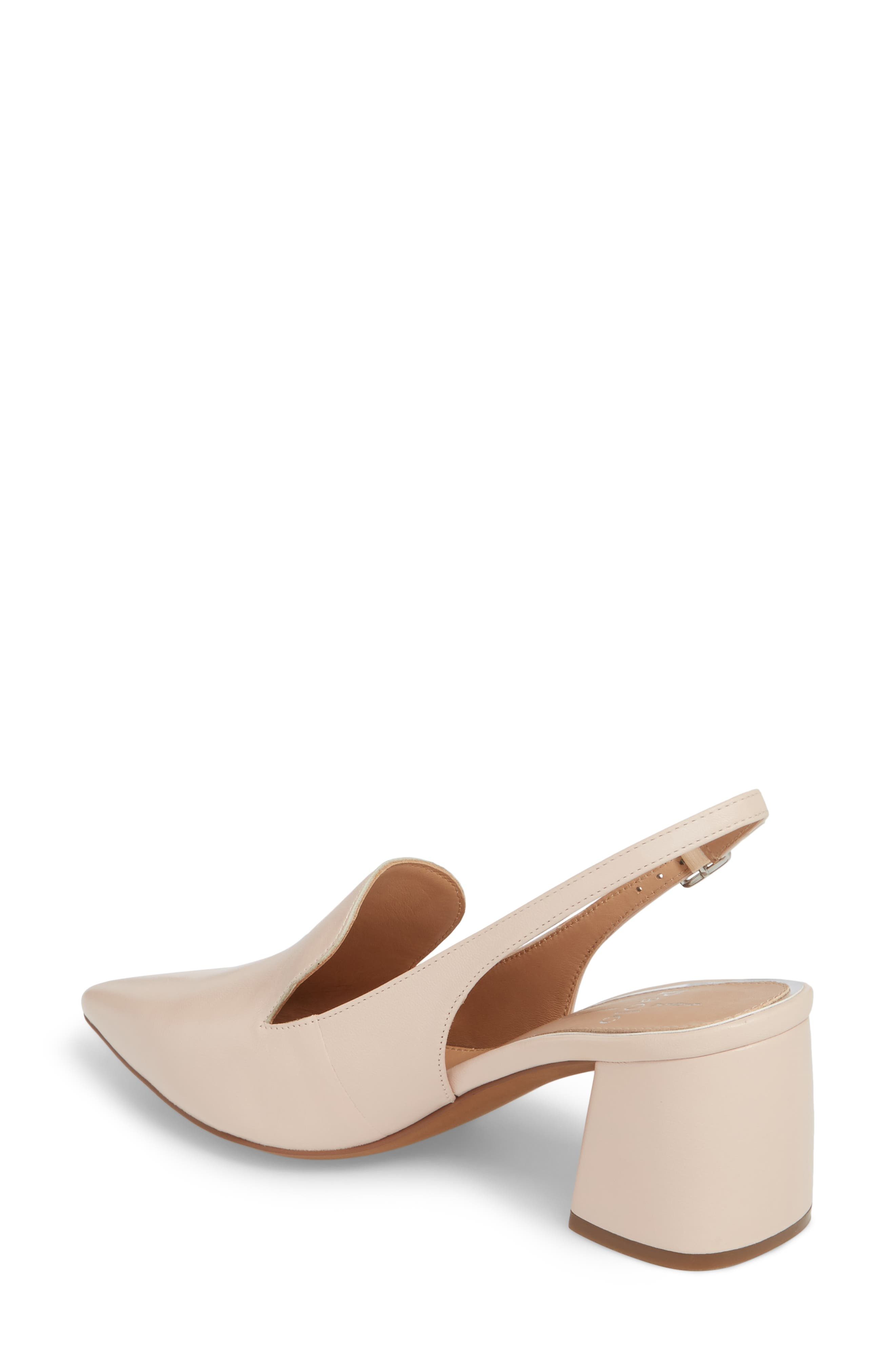 Carly Slingback Pump,                             Alternate thumbnail 2, color,                             Pale Pink Leather