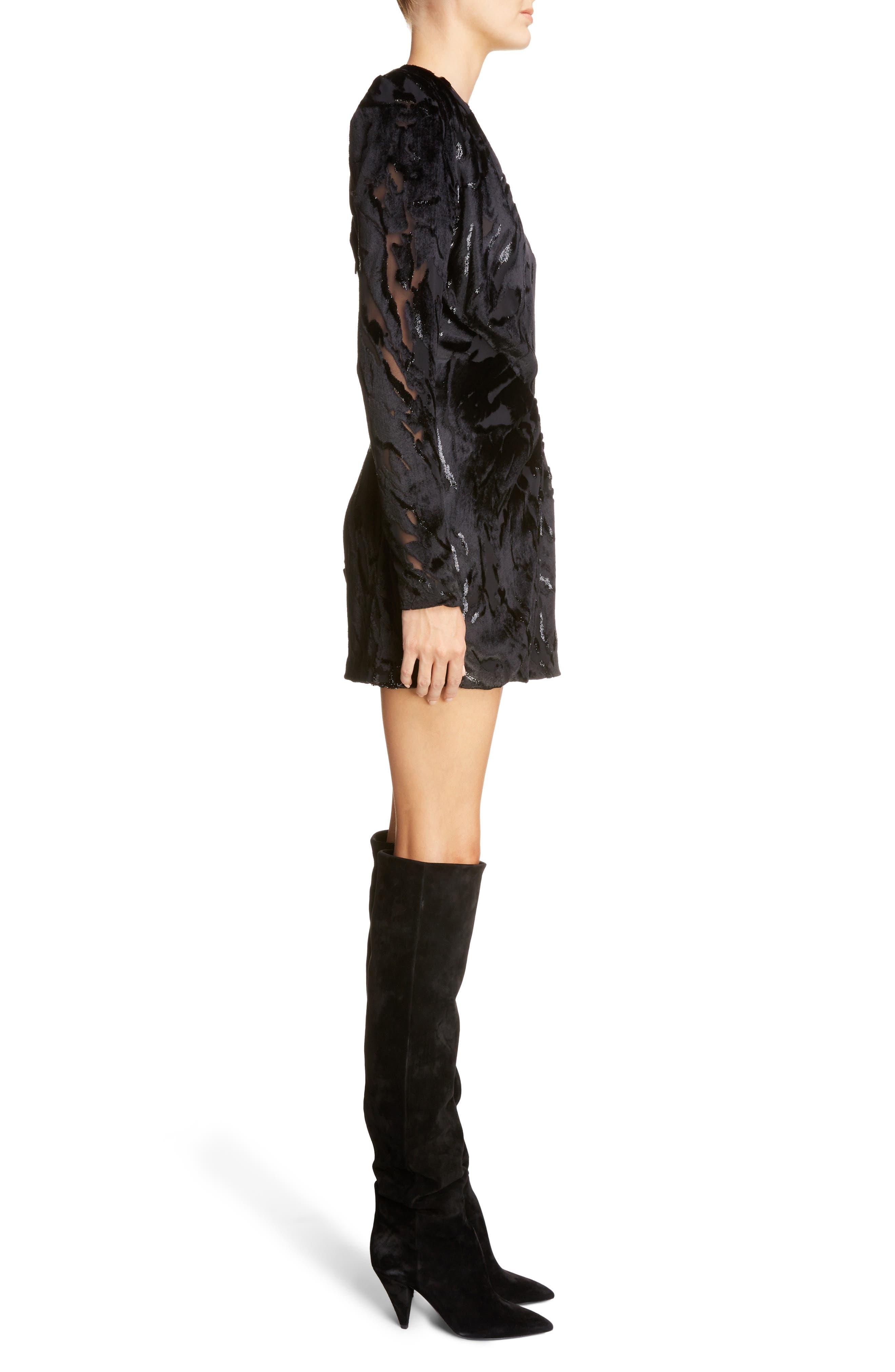 Alternate Image 3  - Saint Laurent Devoré Asymmetrical Waist Dress