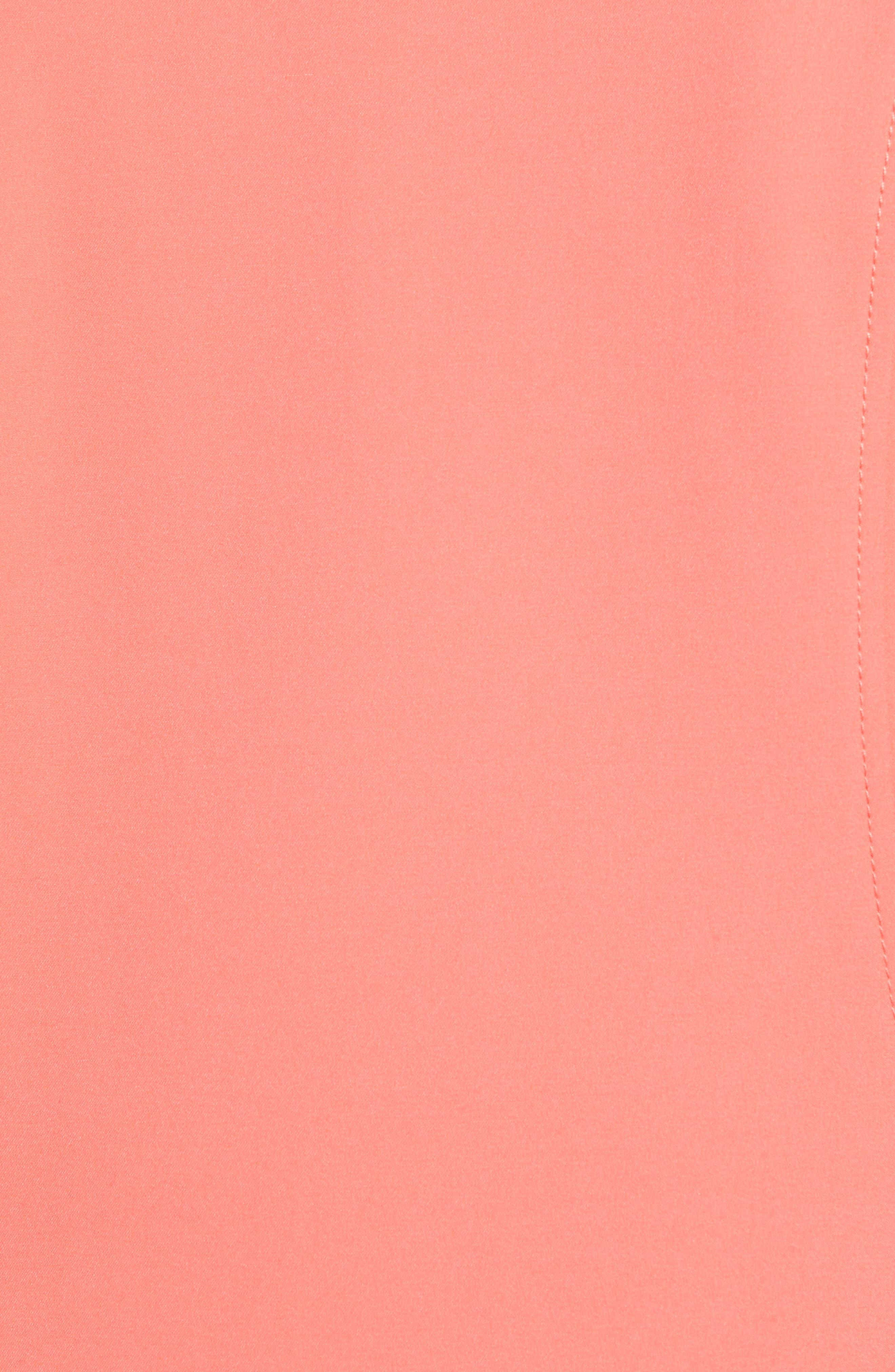 Long Jacket,                             Alternate thumbnail 6, color,                             Coral Glow