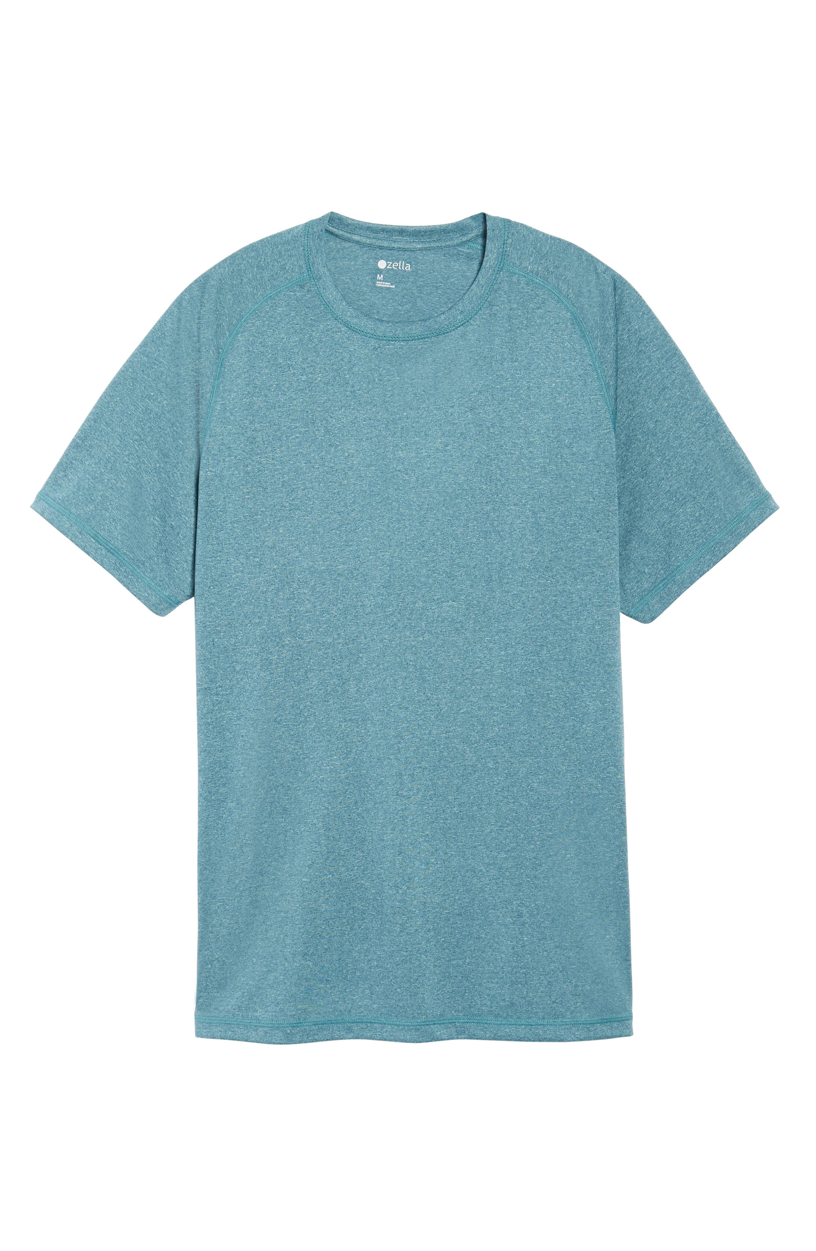 Jordanite Crewneck T-Shirt,                             Alternate thumbnail 6, color,                             Teal Tourmaline Melange