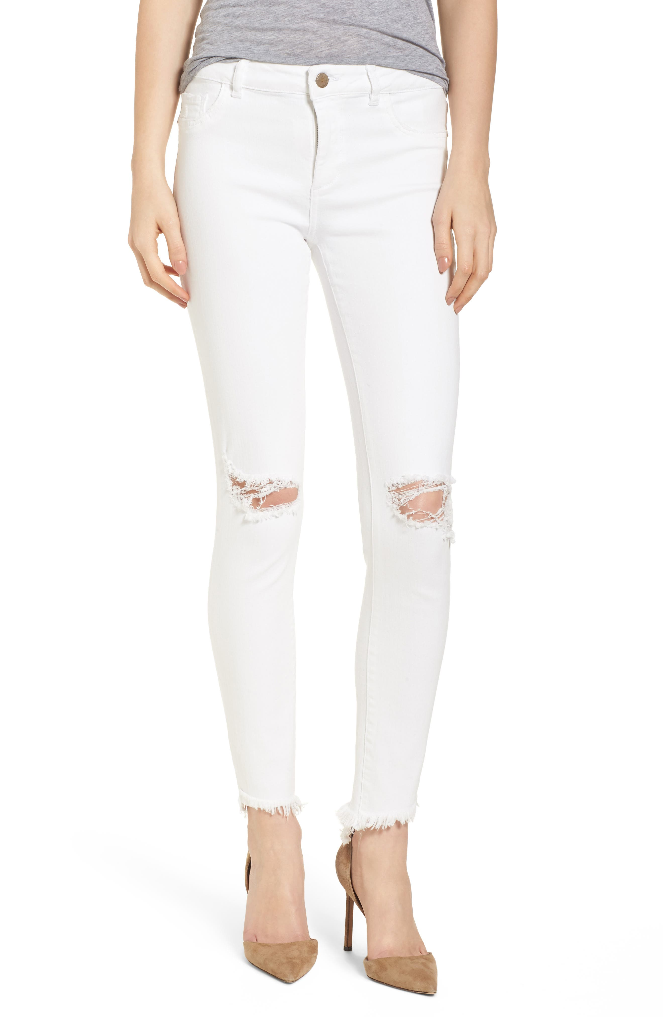 Margaux Instasculpt Ankle Skinny Jeans,                         Main,                         color, Newport