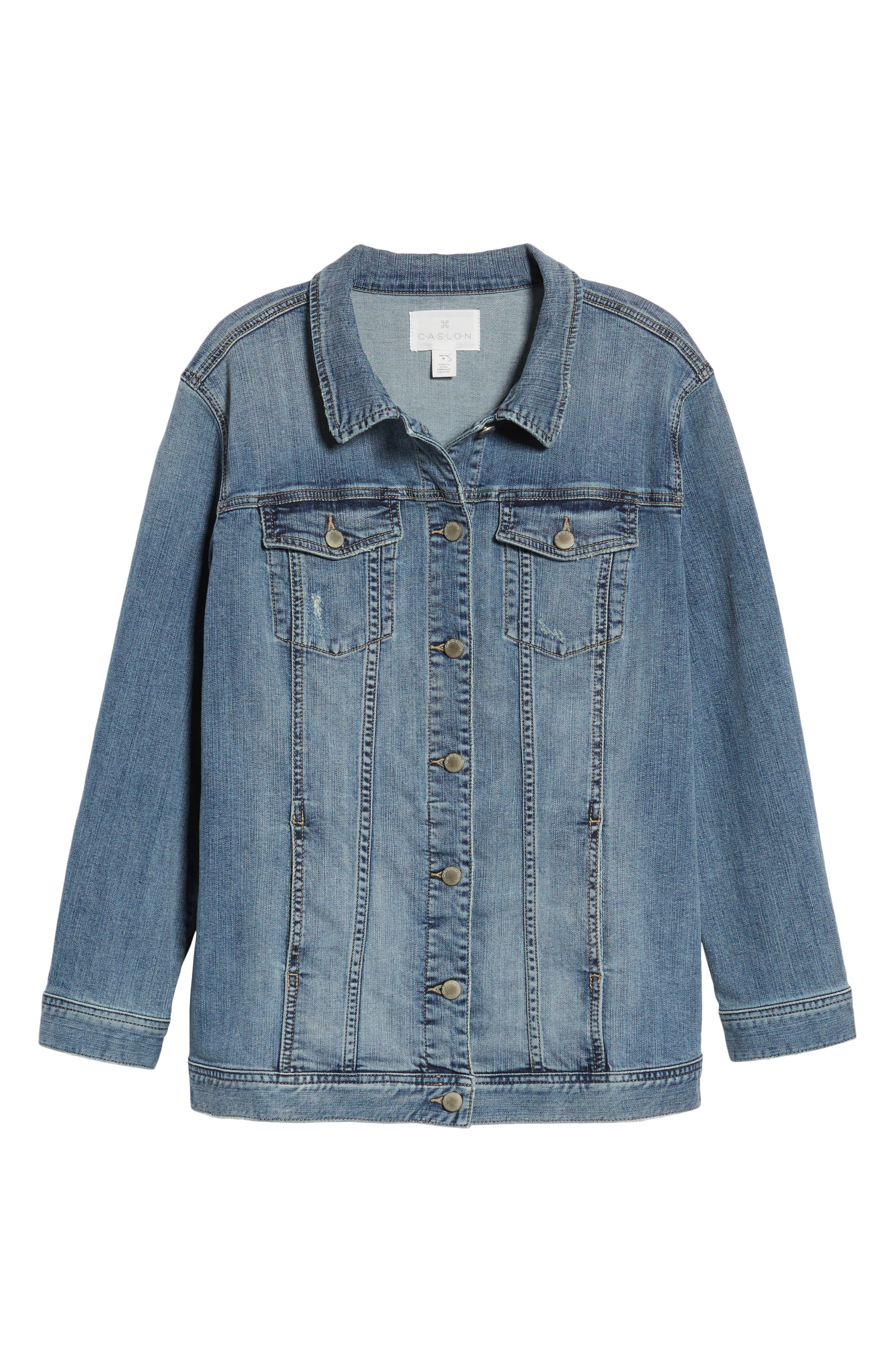Alternate Image 6  - Caslon® Relaxed Fit Denim Jacket (Regular & Petite)