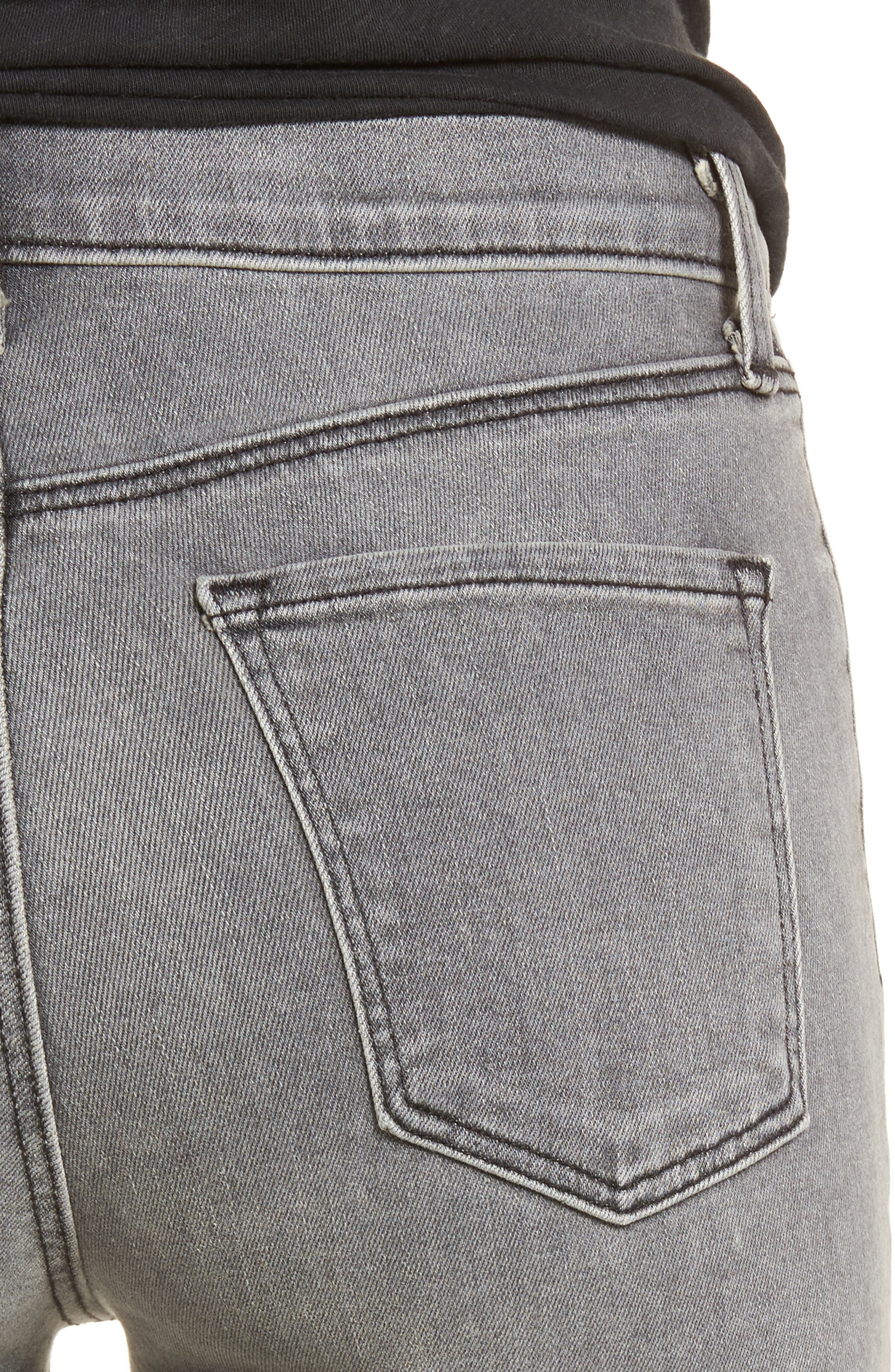 Alternate Image 4  - J Brand Maria High Waist Skinny Jeans (Pebble) (Nordstrom Exclusive)