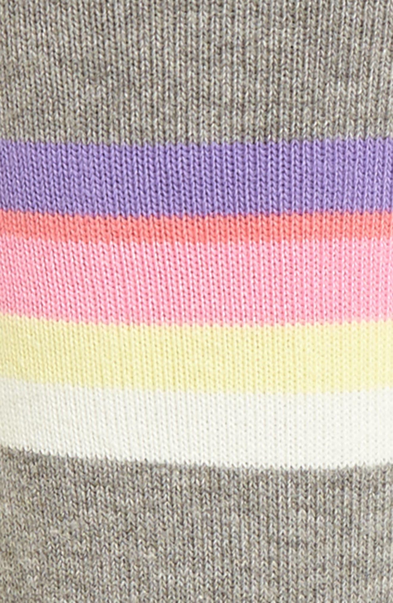 Mega Babe Tomboy Crew Socks,                             Alternate thumbnail 2, color,                             Grey