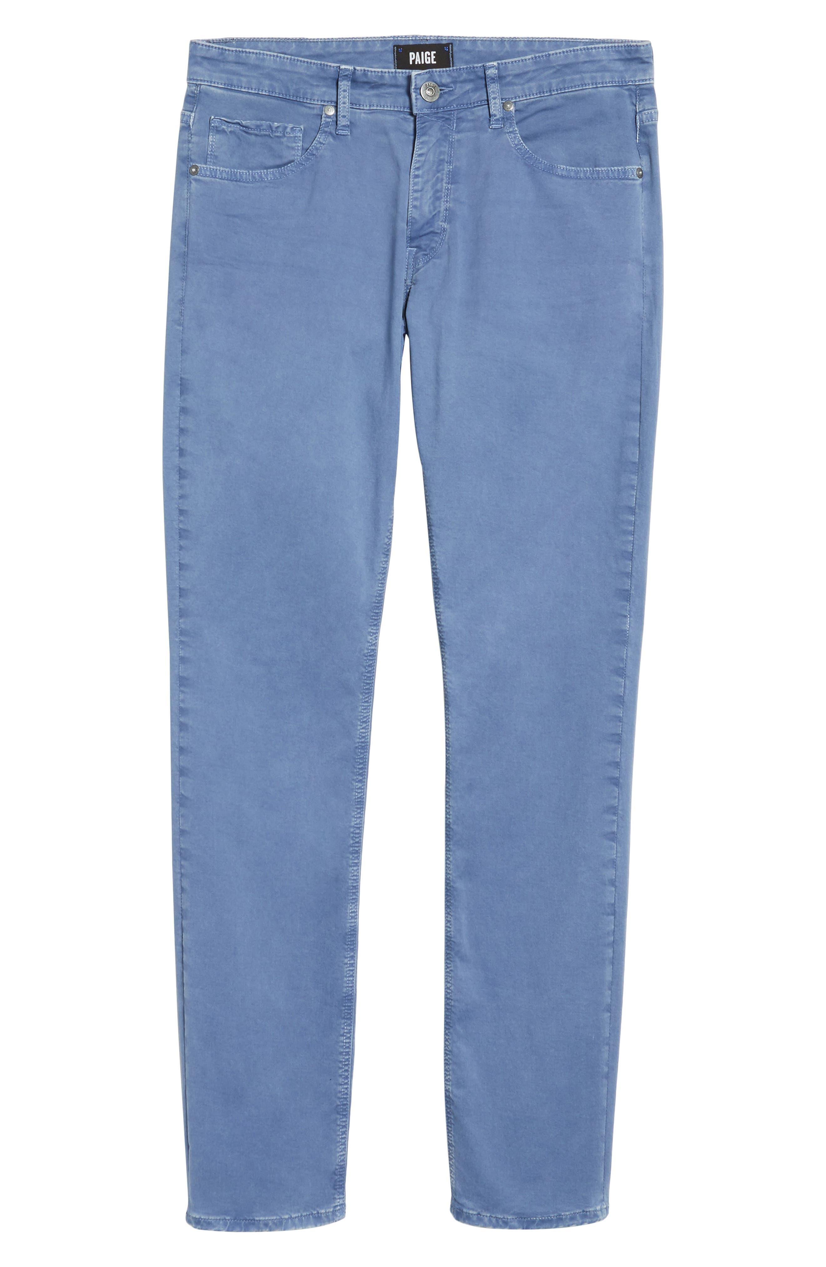 Lennox Slim Fit Five-Pocket Pants,                             Alternate thumbnail 6, color,                             Vintage Mariner