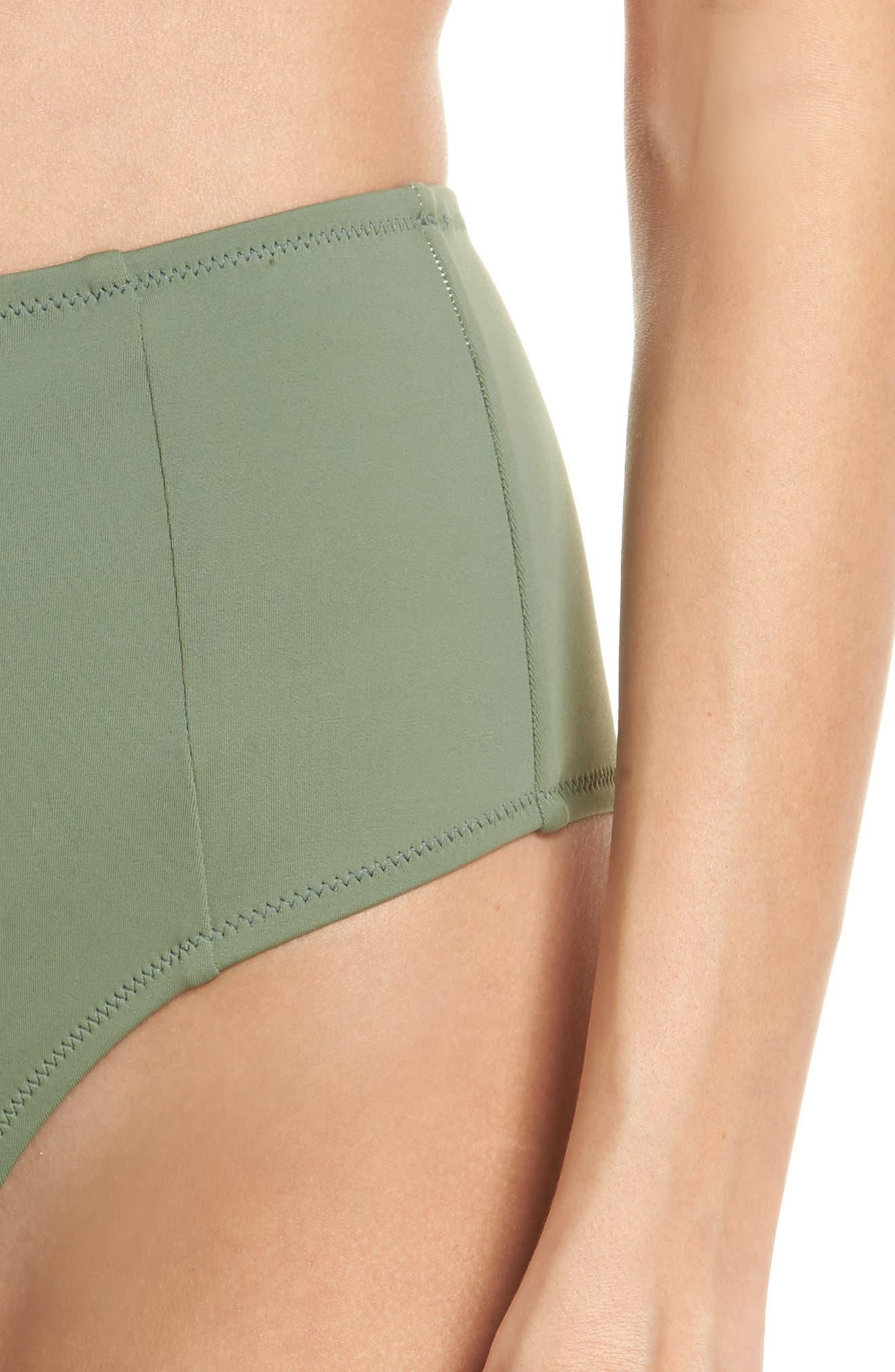 The Jessica High Waist Bikini Bottoms,                             Alternate thumbnail 4, color,                             Green