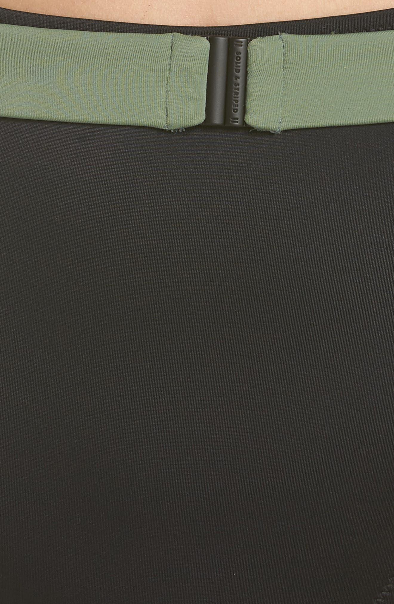 The Josephine High Waist Bikini Bottoms,                             Alternate thumbnail 8, color,                             Black