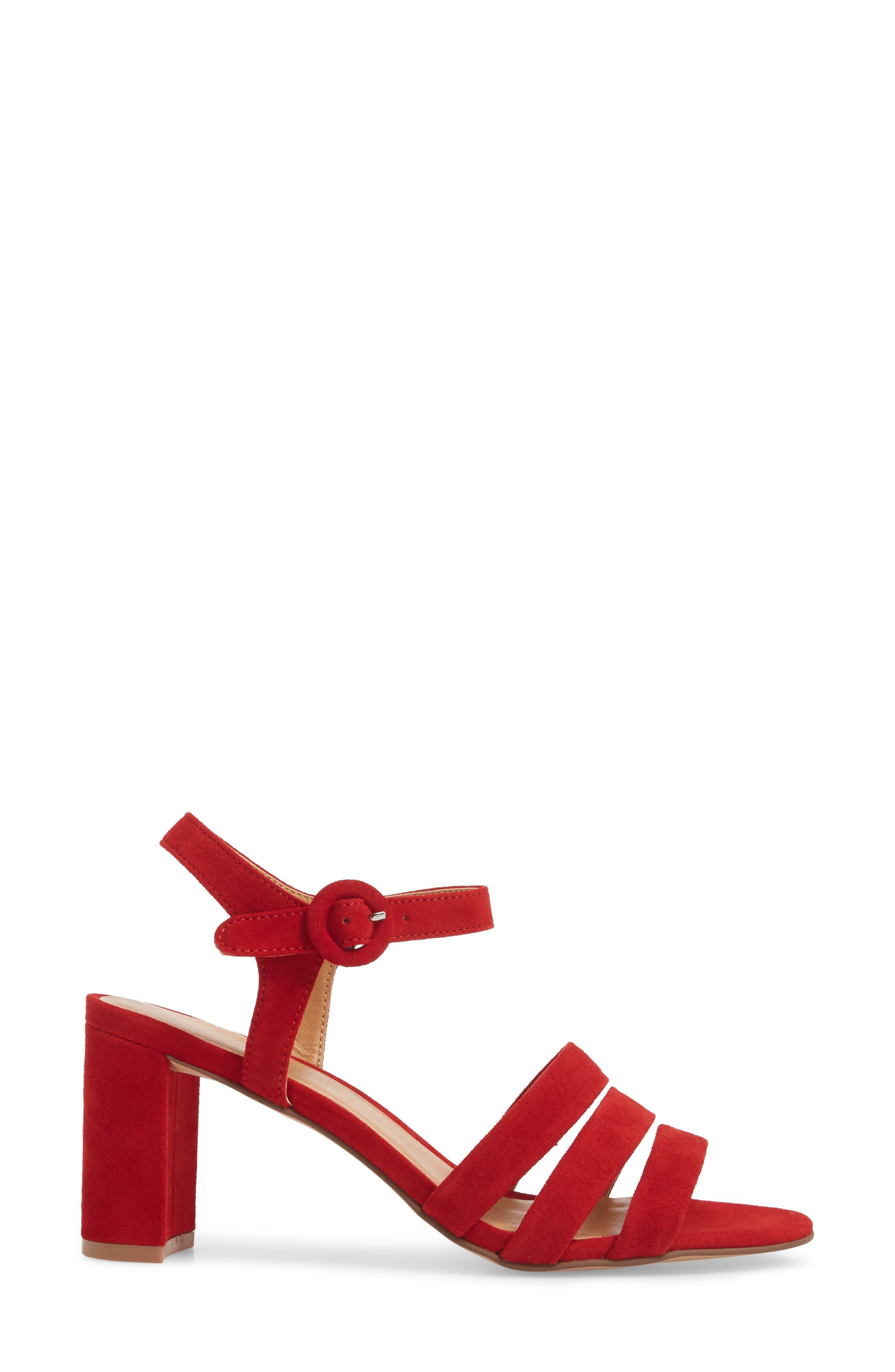 Ryden Strappy Sandal,                             Alternate thumbnail 3, color,                             Red