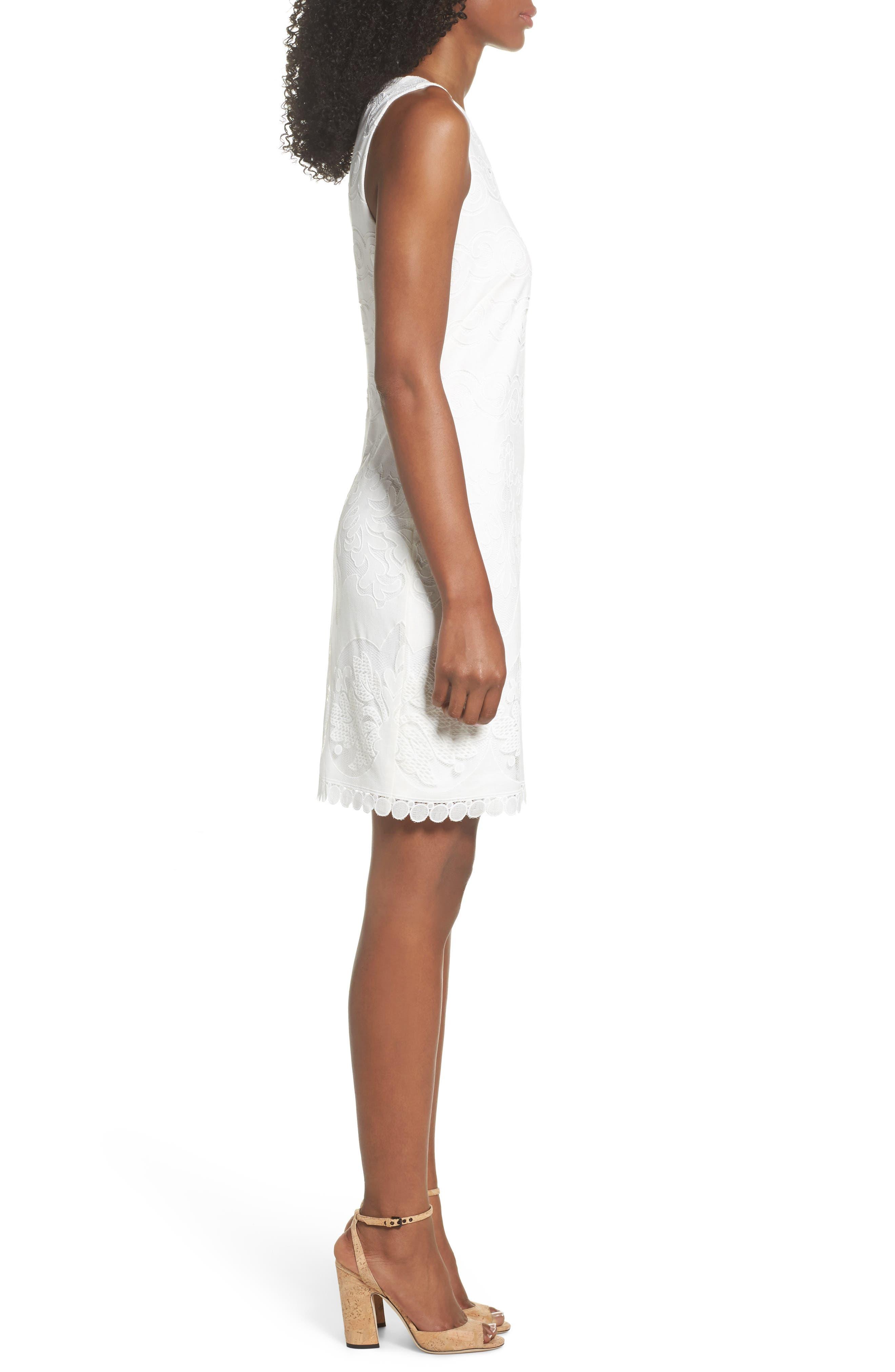 A-Line Dress,                             Alternate thumbnail 4, color,                             White