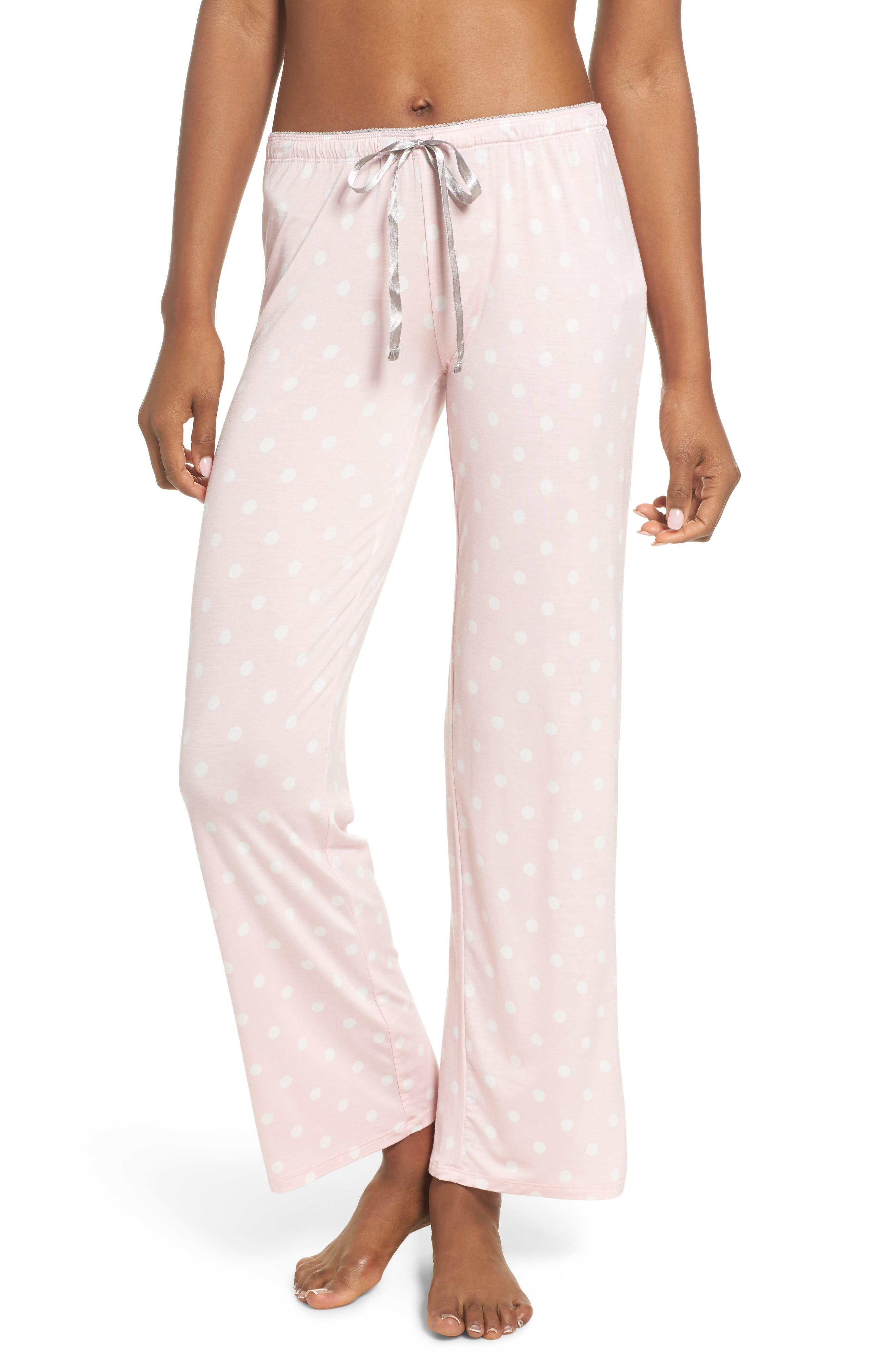Drawstring Pajama Pants,                         Main,                         color, Pink