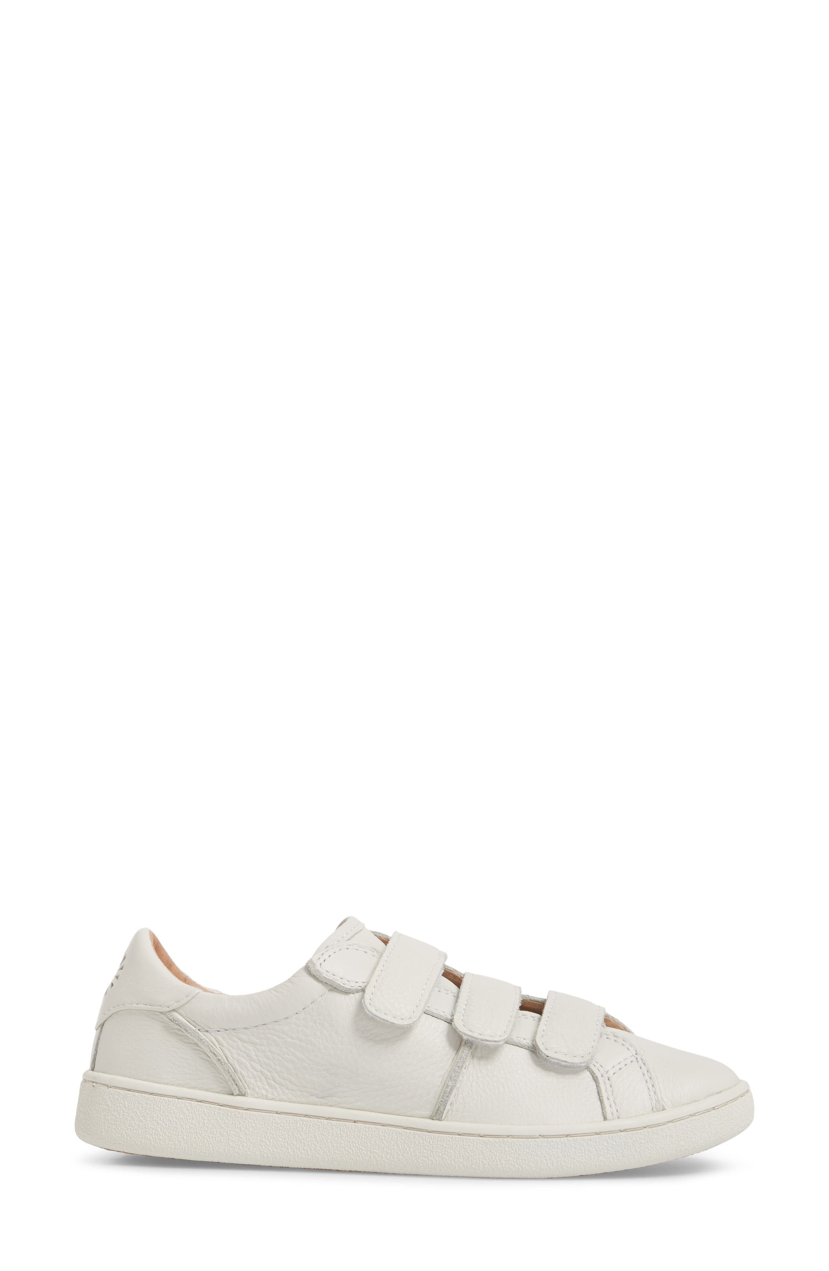 Alix Sneaker,                             Alternate thumbnail 3, color,                             White Leather