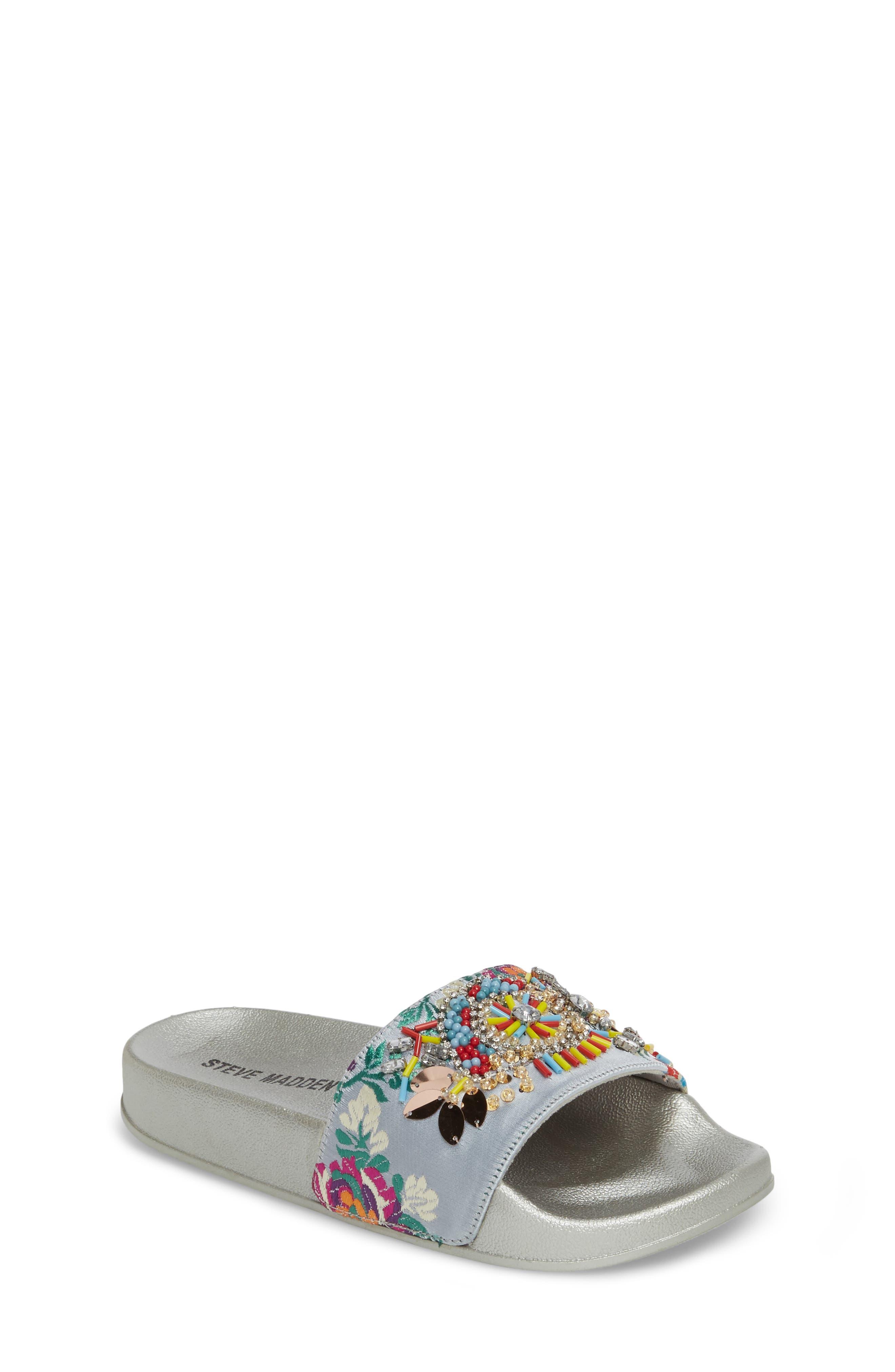 Steve Madden Jsparkly Slide Sandal (Little Kid & Big Kid)