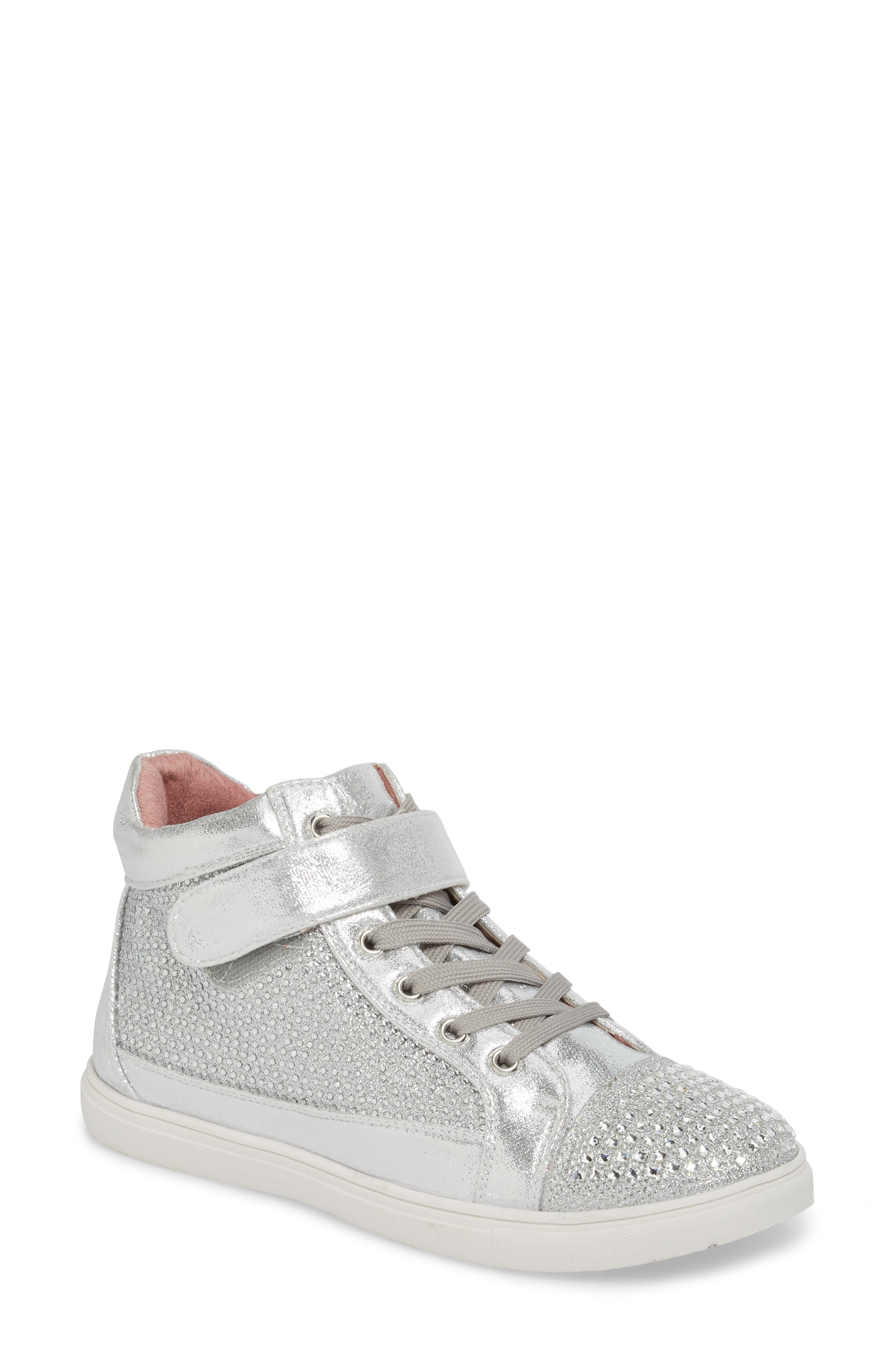Lauren Lorraine Charley Crystal Embellished High Top Sneaker (Women)