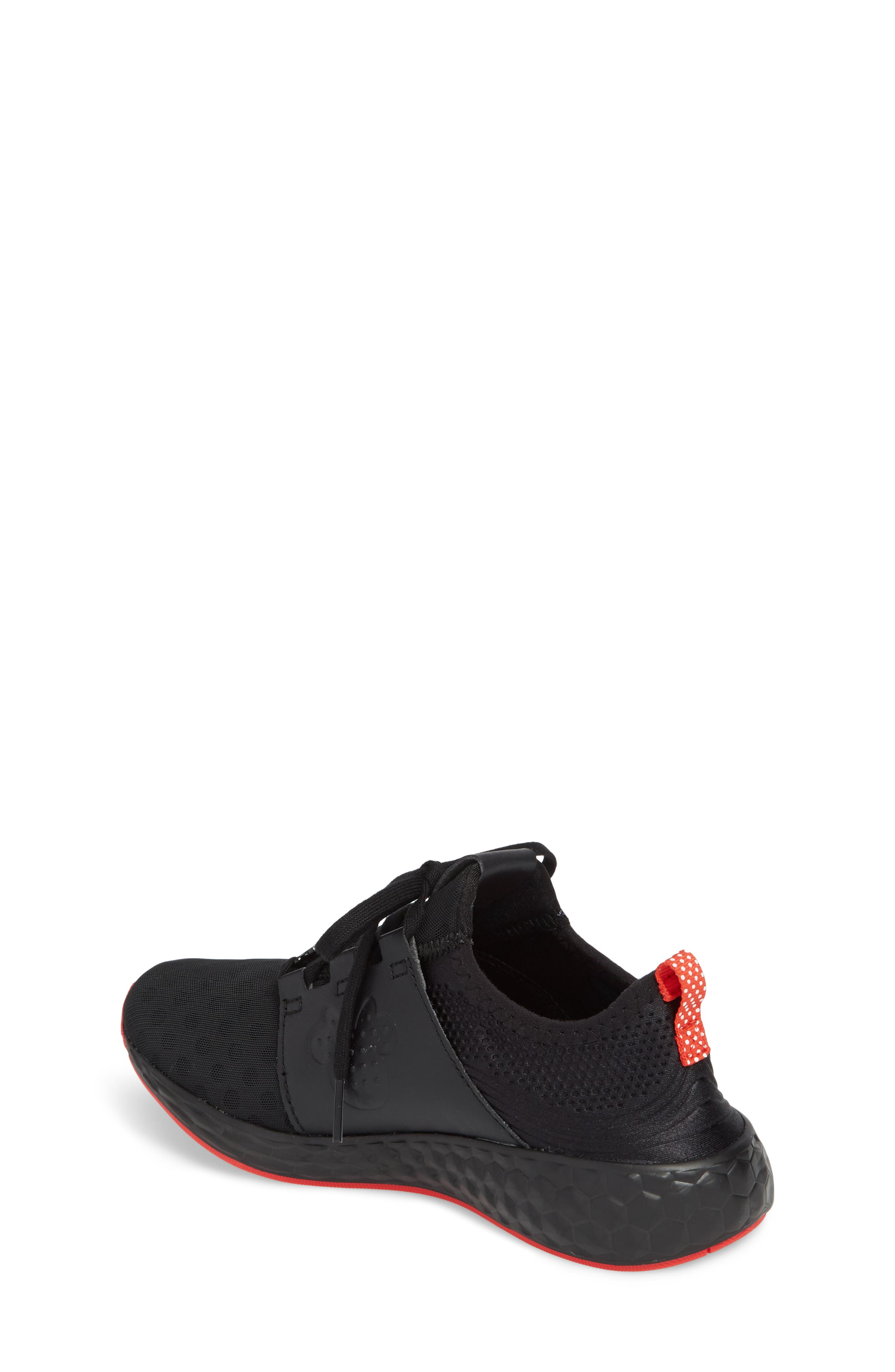 x Disney Minnie Mouse Cruz Sport Sneaker,                             Alternate thumbnail 2, color,                             Black/ Red