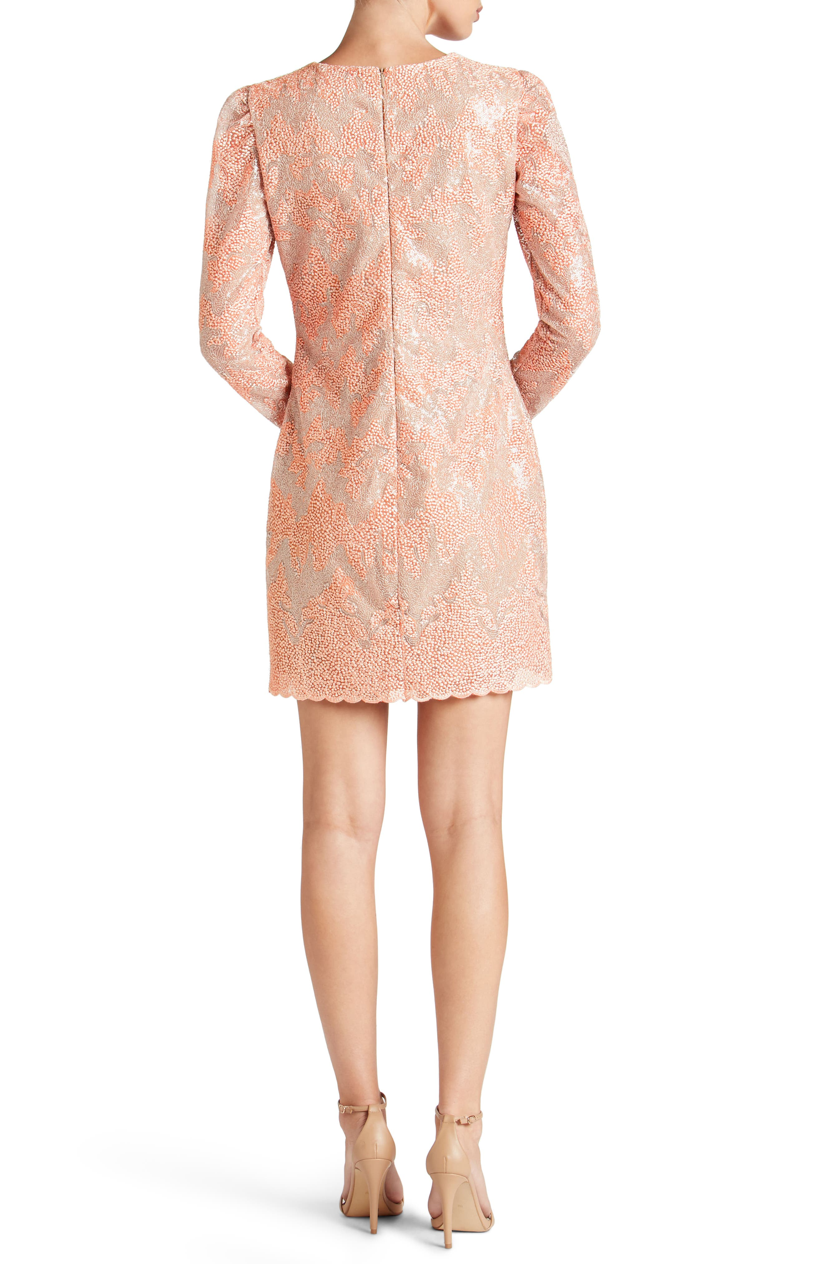 Aubry Sequin Embellished Shift Dress,                             Alternate thumbnail 2, color,                             Blush