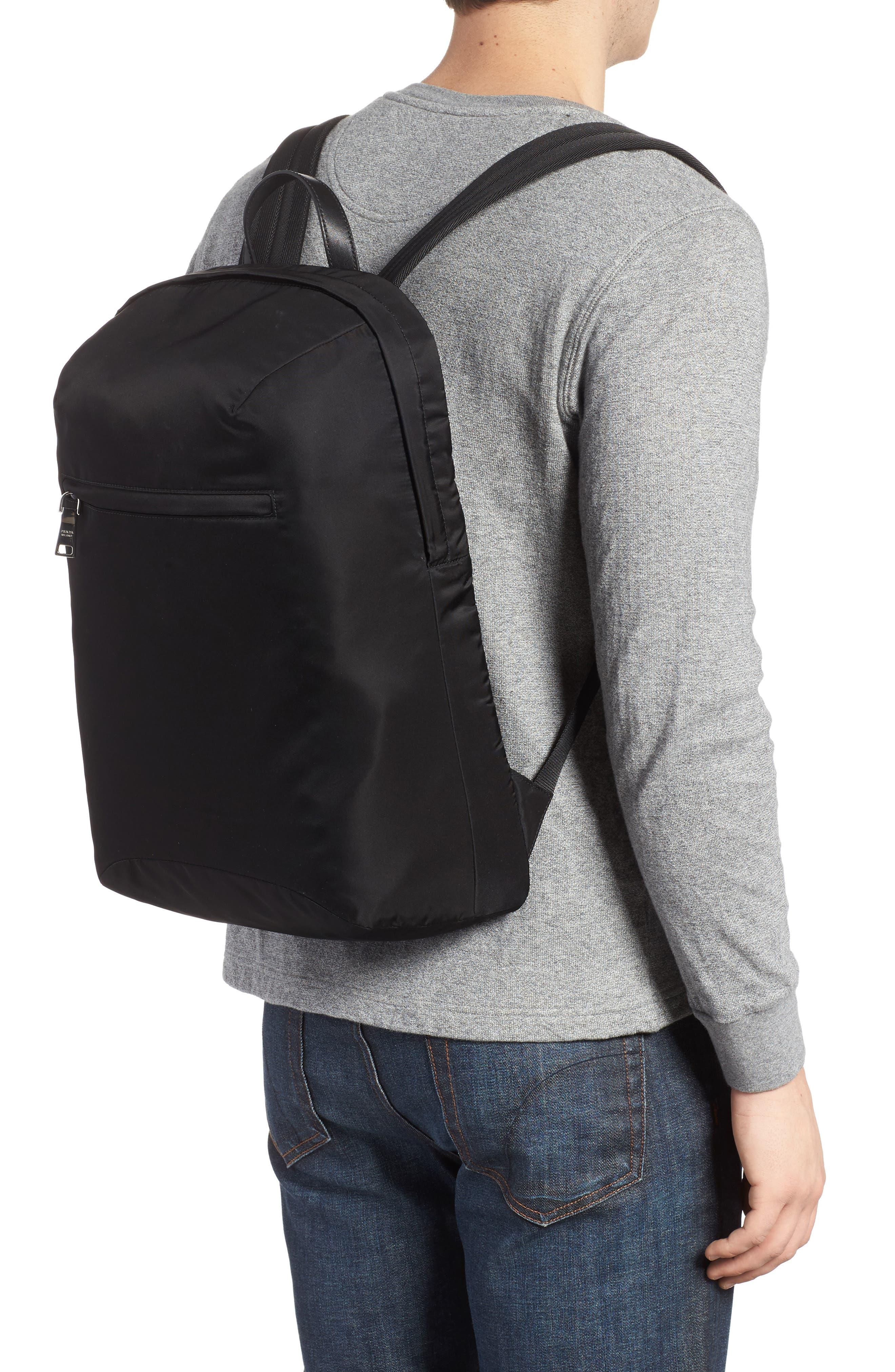 Nylon Backpack,                             Alternate thumbnail 2, color,                             Black