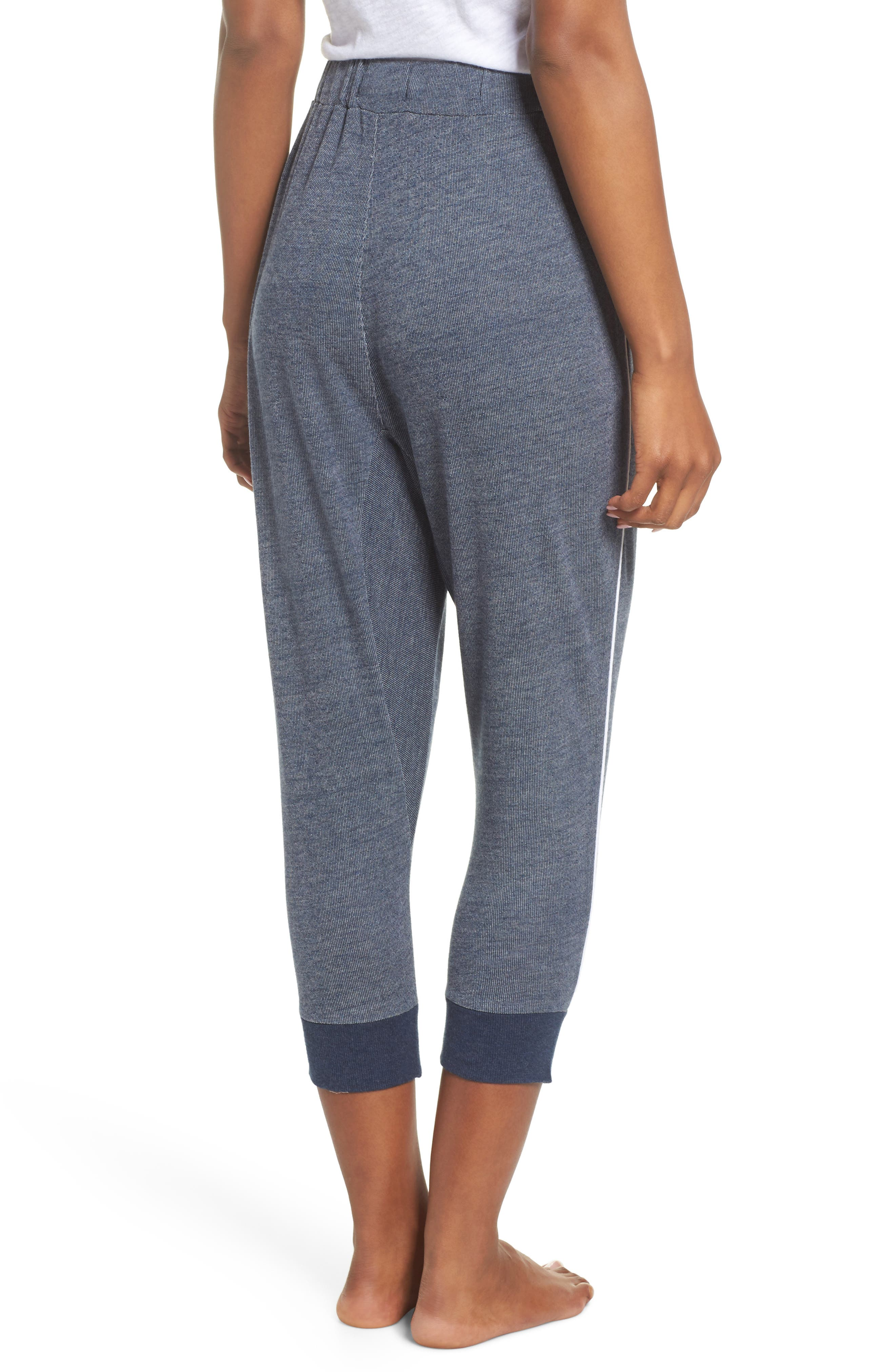 Steff Crop Lounge Pants,                             Alternate thumbnail 2, color,                             Midnight Marle