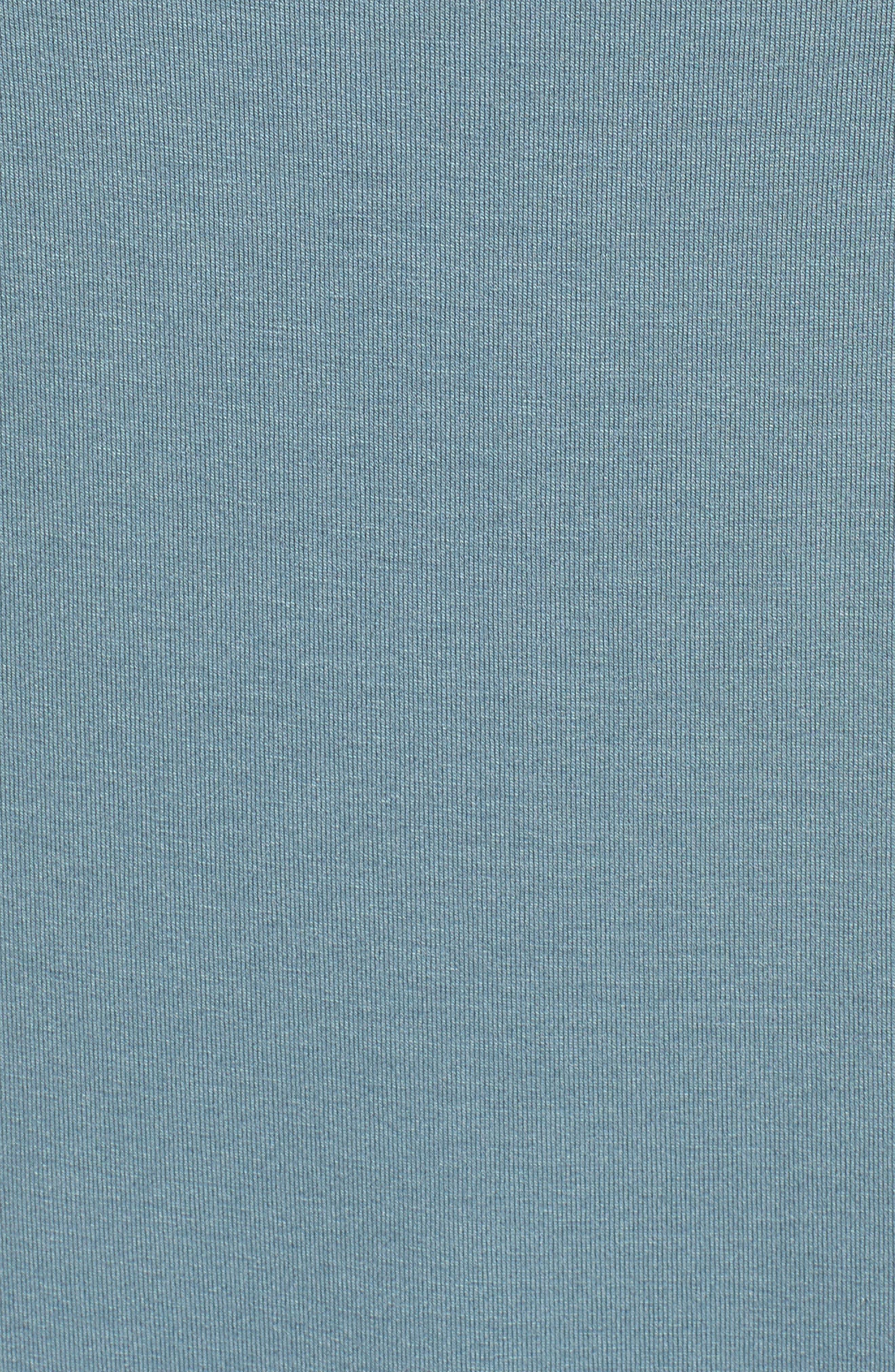 Jersey Scoop Neck Long Tank,                             Alternate thumbnail 5, color,                             Blue Steel