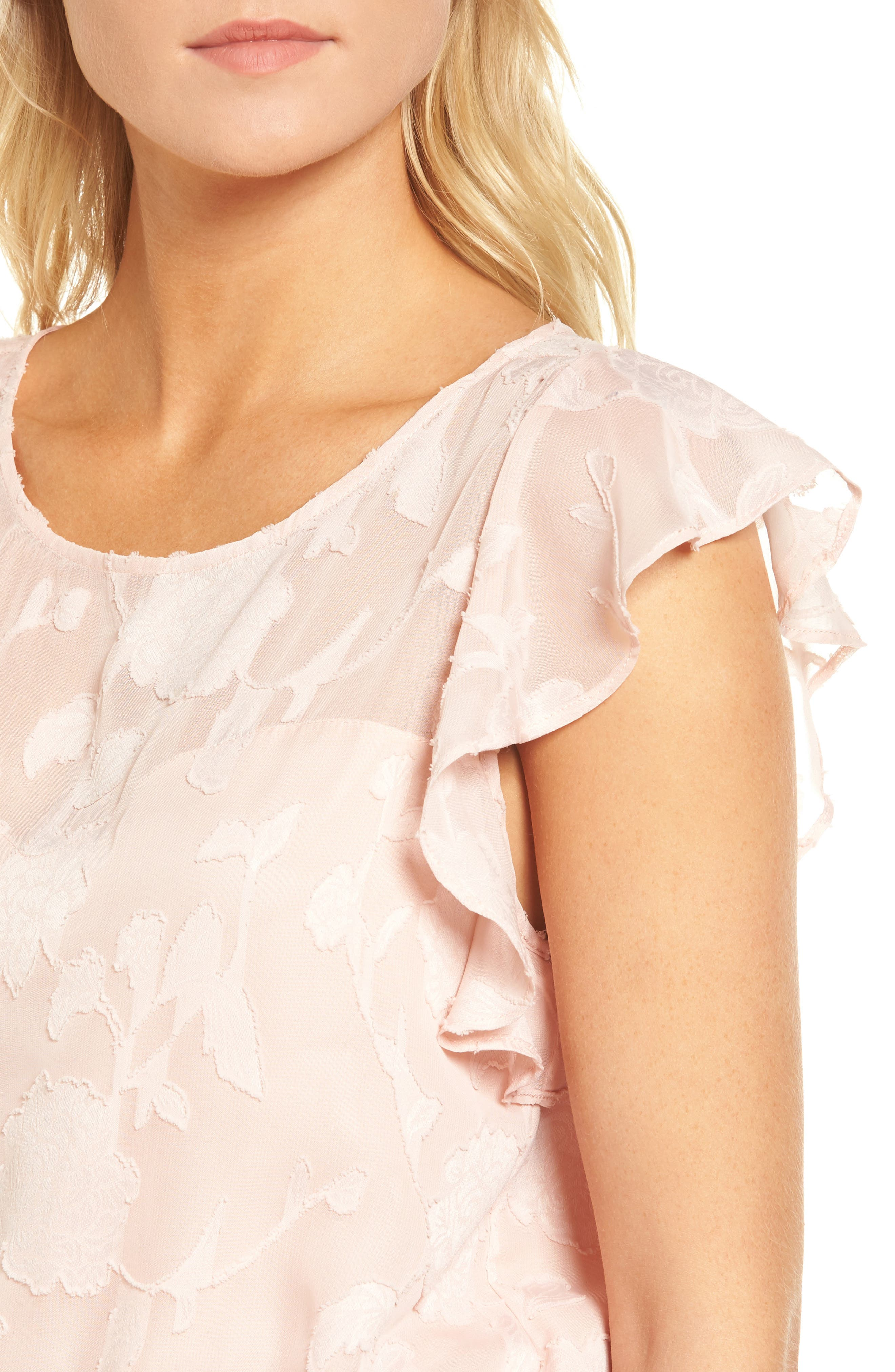 Alternate Image 4  - cupcakes and cashmere Banyan Floral Burnout Top